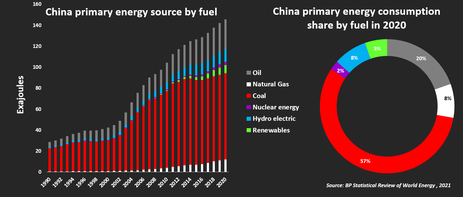China primary energy source by fuel