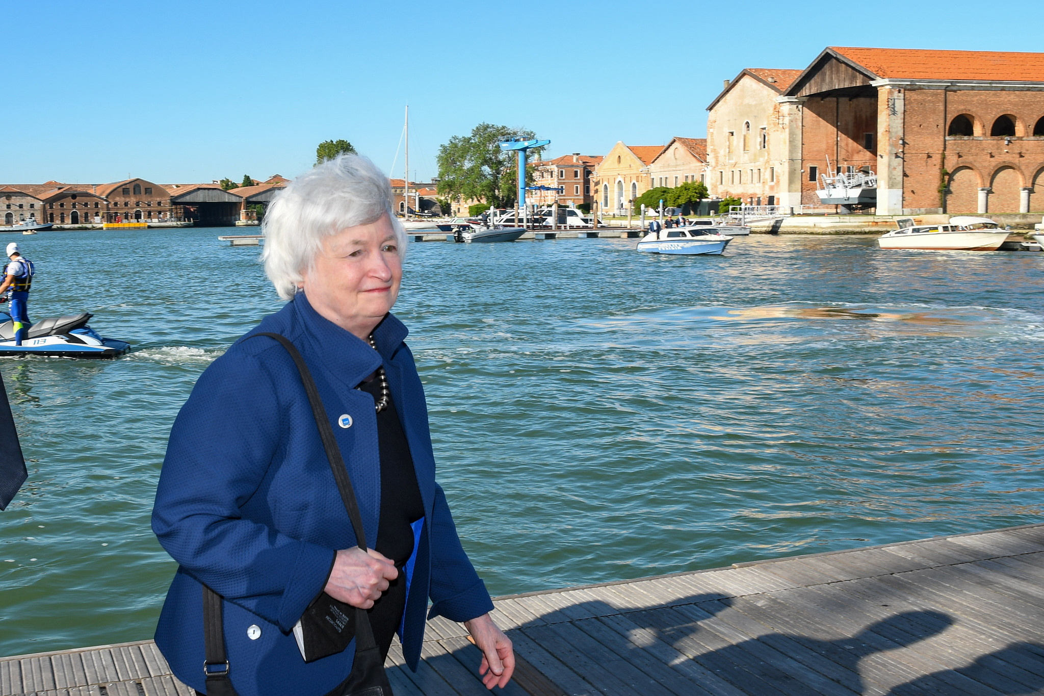 U.S. Secretary of the Treasury Janet Yellen arrives to attend the G20 finance ministers and central bank governors' meeting in Venice, Italy, July 9, 2021. G20 Italy/Handout via REUTERS