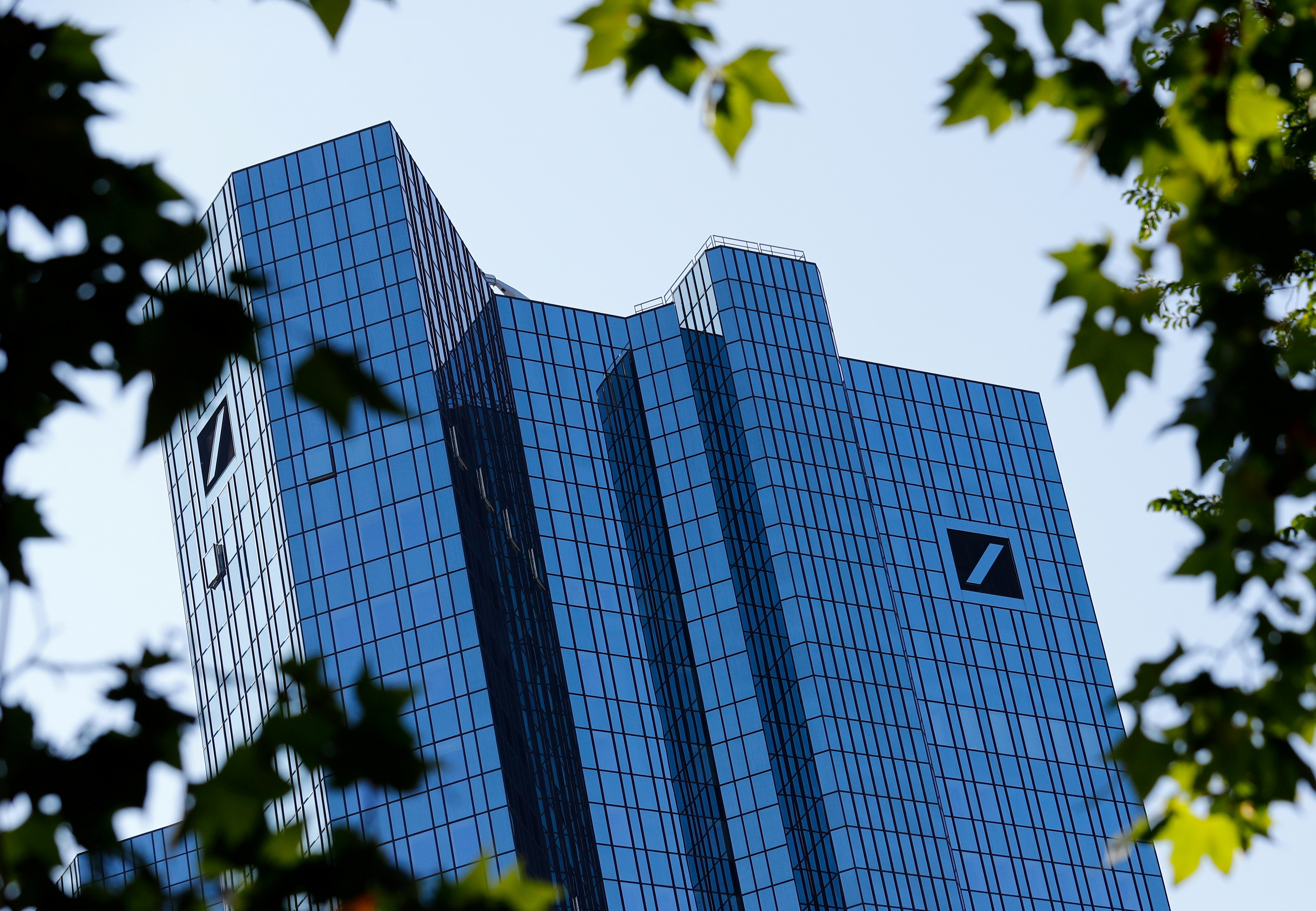 The headquarters of Germany's Deutsche Bank are pictured in Frankfurt, Germany, September 21, 2020. REUTERS/Ralph Orlowski/File Photo