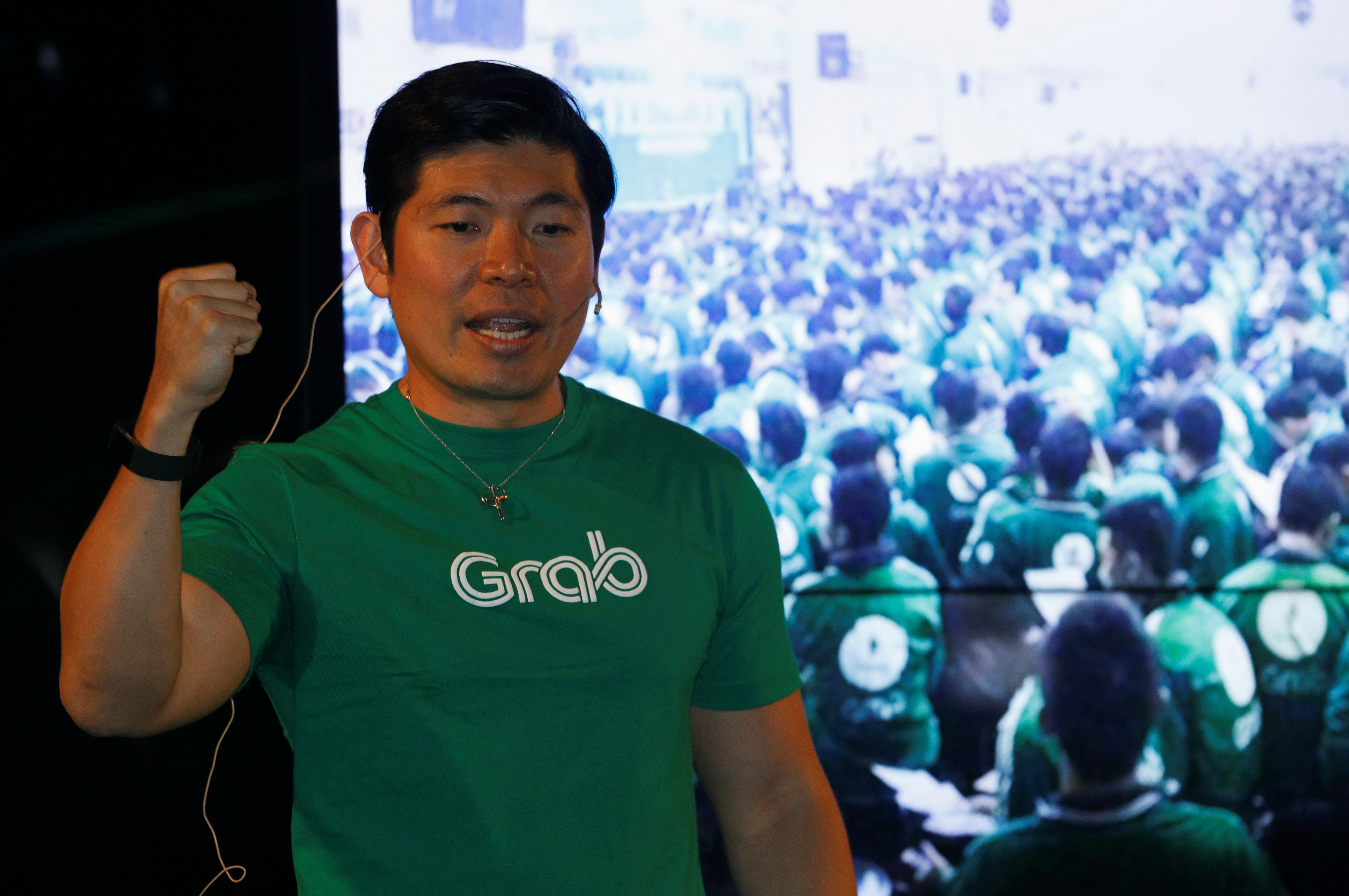 Grab's CEO Anthony Tan speaks during Grab's fifth anniversary news conference in Singapore June 6, 2017. REUTERS/Edgar Su - RC169CEFCF30