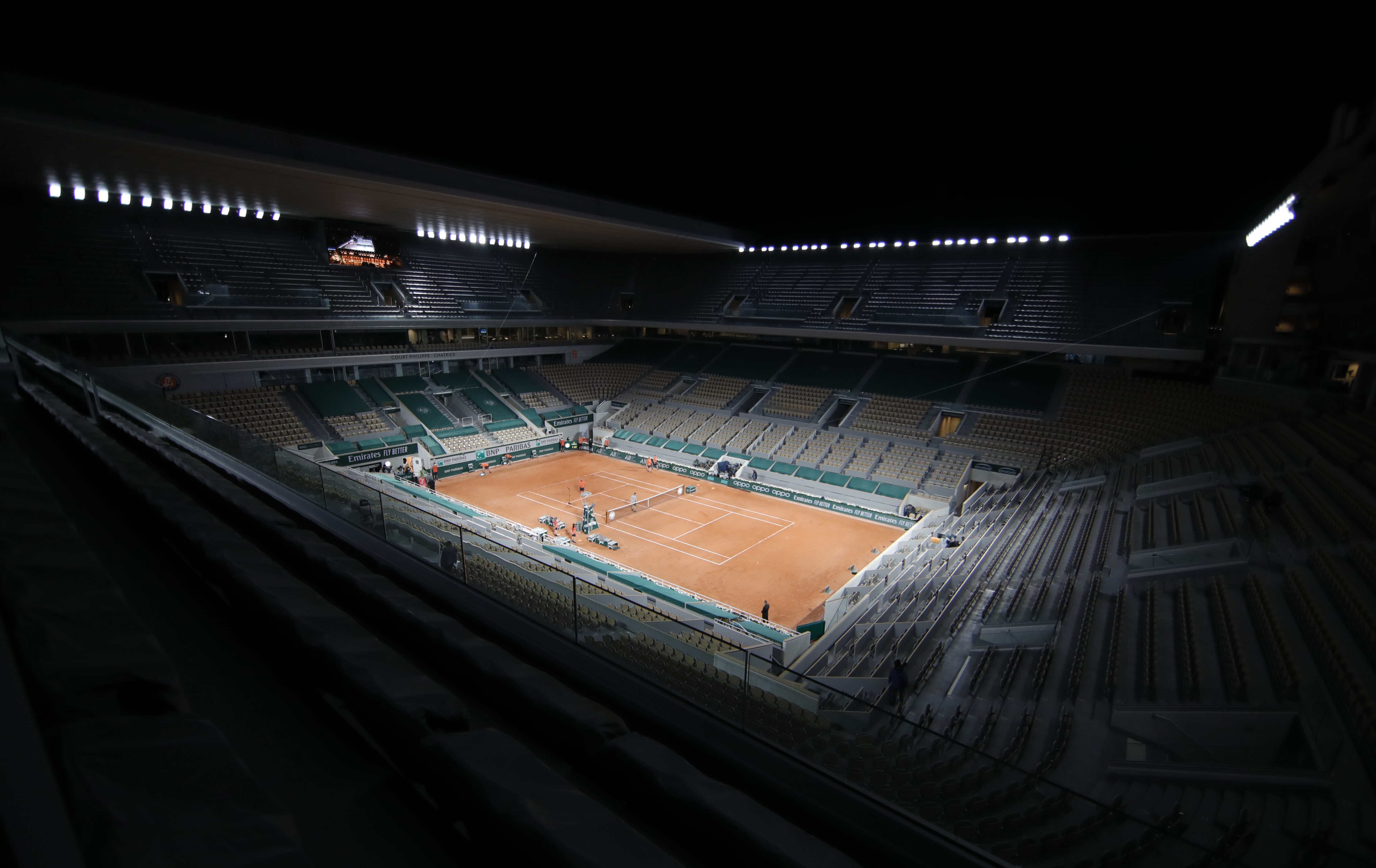 Tennis - French Open - Roland Garros, Paris, France - May 31, 2021 General view of the stadium after the first round match between Serena Williams of the U.S. and Romania's Irina-Camelia Begu REUTERS/Sarah Meyssonnier