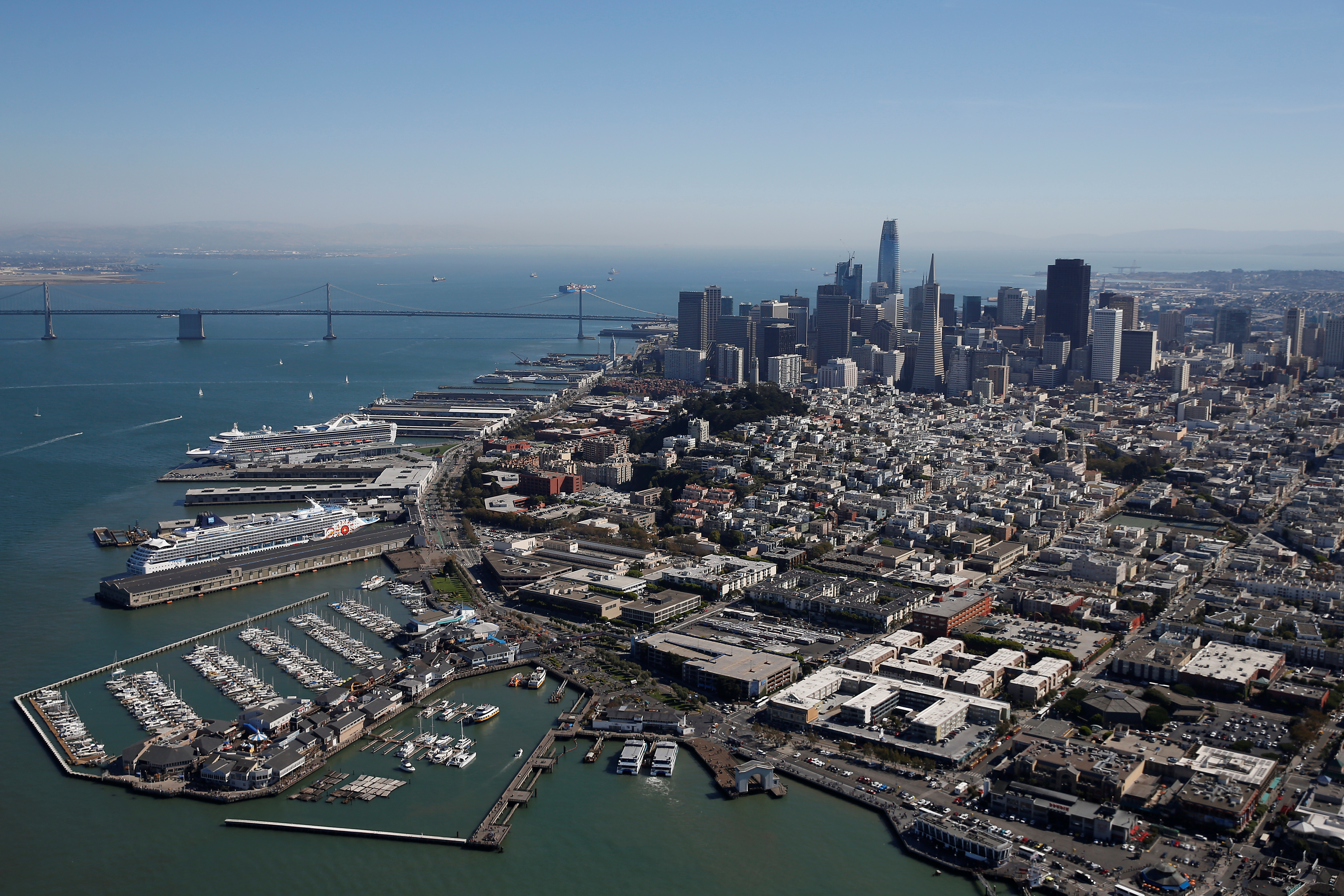 A general aerial view of San Francisco is seen in San Francisco, California, U.S., October 5, 2017. REUTERS/Stephen Lam/Files