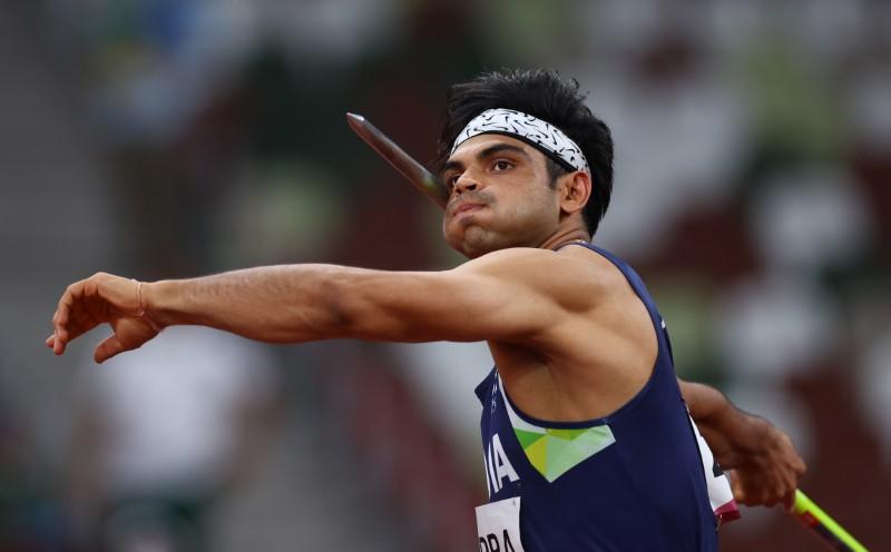 Tokyo 2020 Olympics - Athletics - Men's Javelin Throw - Final - Olympic Stadium, Tokyo, Japan - August 7, 2021. Neeraj Chopra of India in action REUTERS/Kai Pfaffenbach