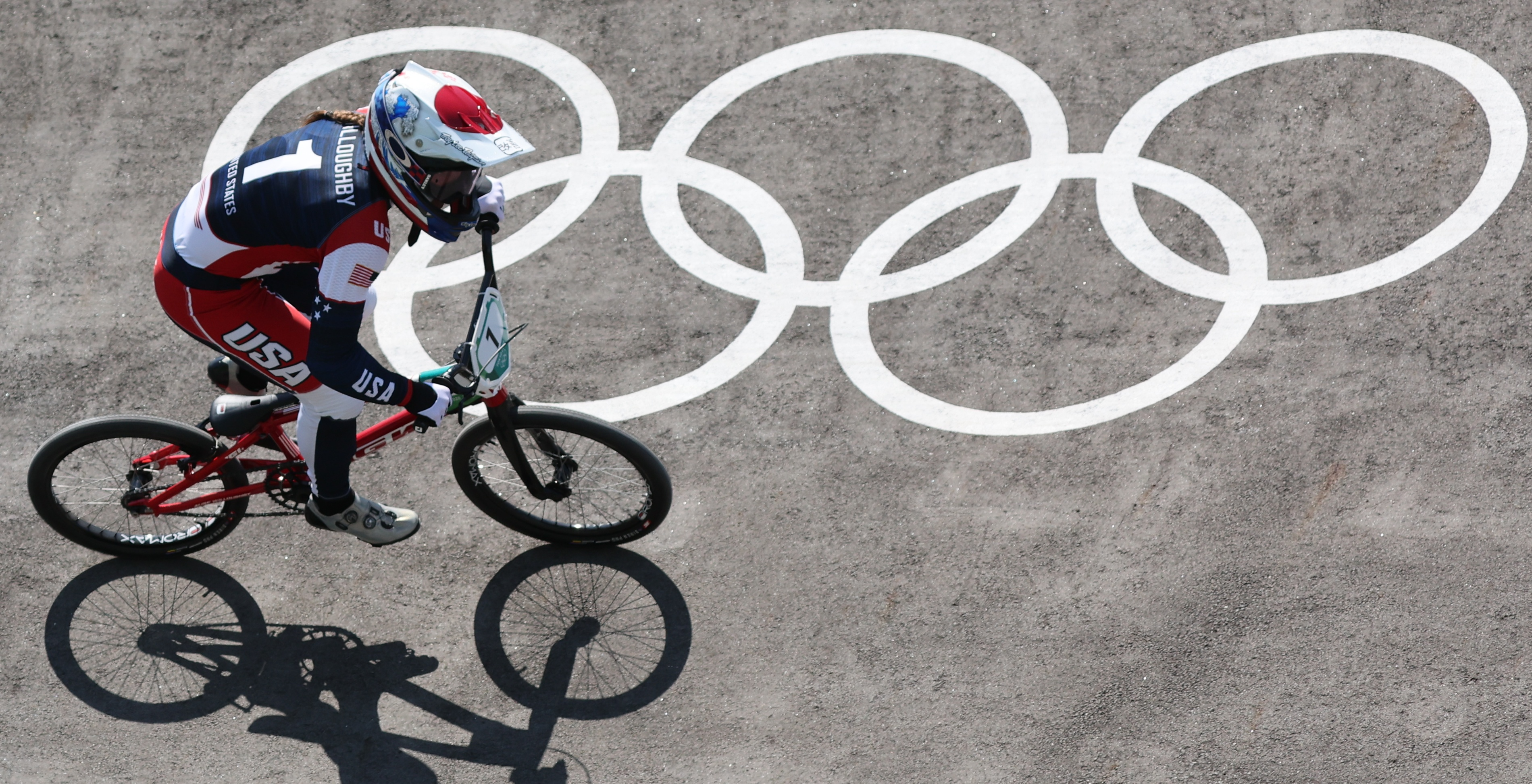 Tokyo 2020 Olympics - BMX Racing - Women's Individual - Quarterfinal - AUP - Ariake Urban Sports Park, Tokyo, Japan – July 29, 2021. Alise Willoughby of the United States in action. REUTERS/Christian Hartmann