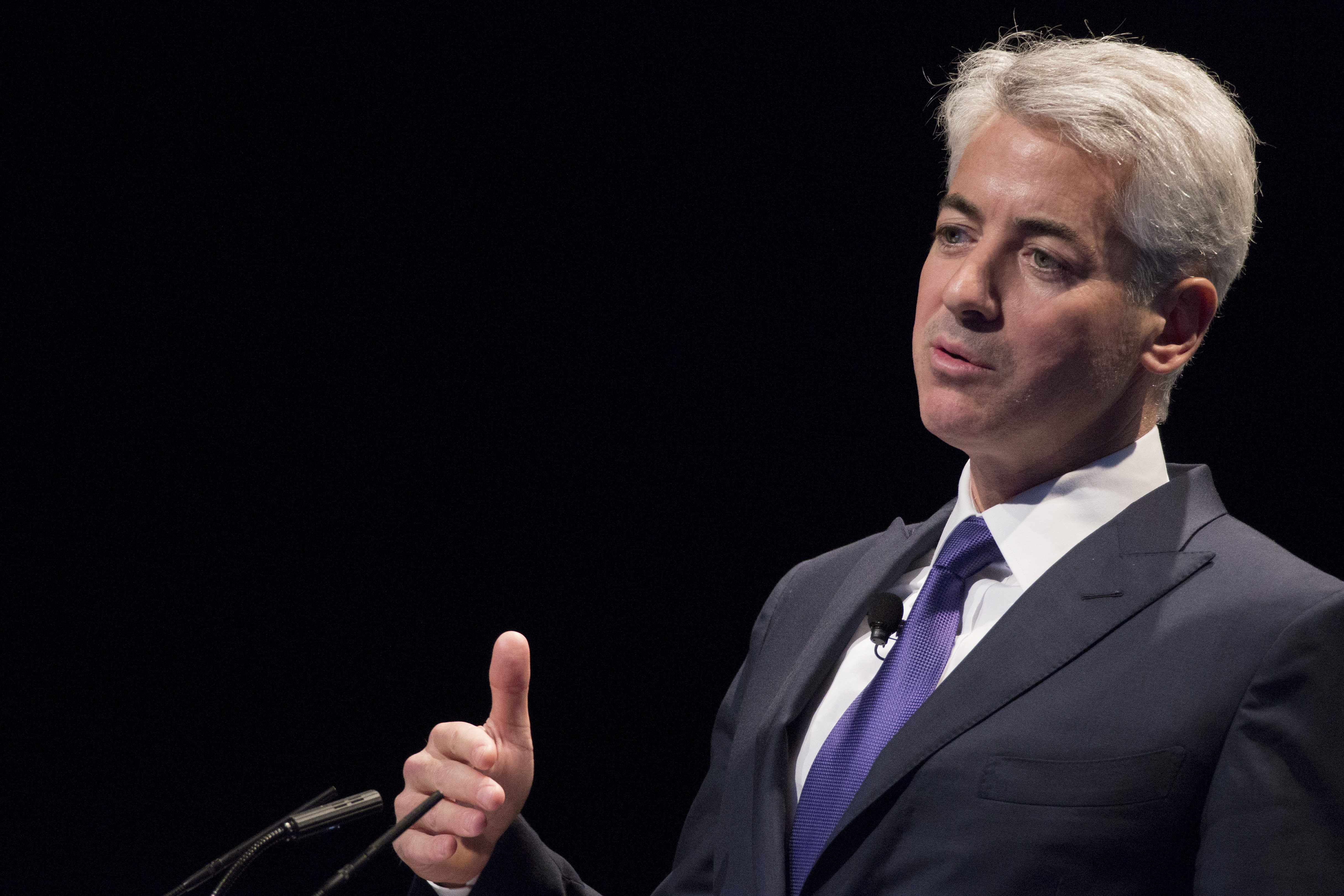 William Ackman, founder and CEO of hedge fund Pershing Square Capital Management, speaks during the Sohn Investment Conference in New York, May 4, 2015. REUTERS/Brendan McDermid