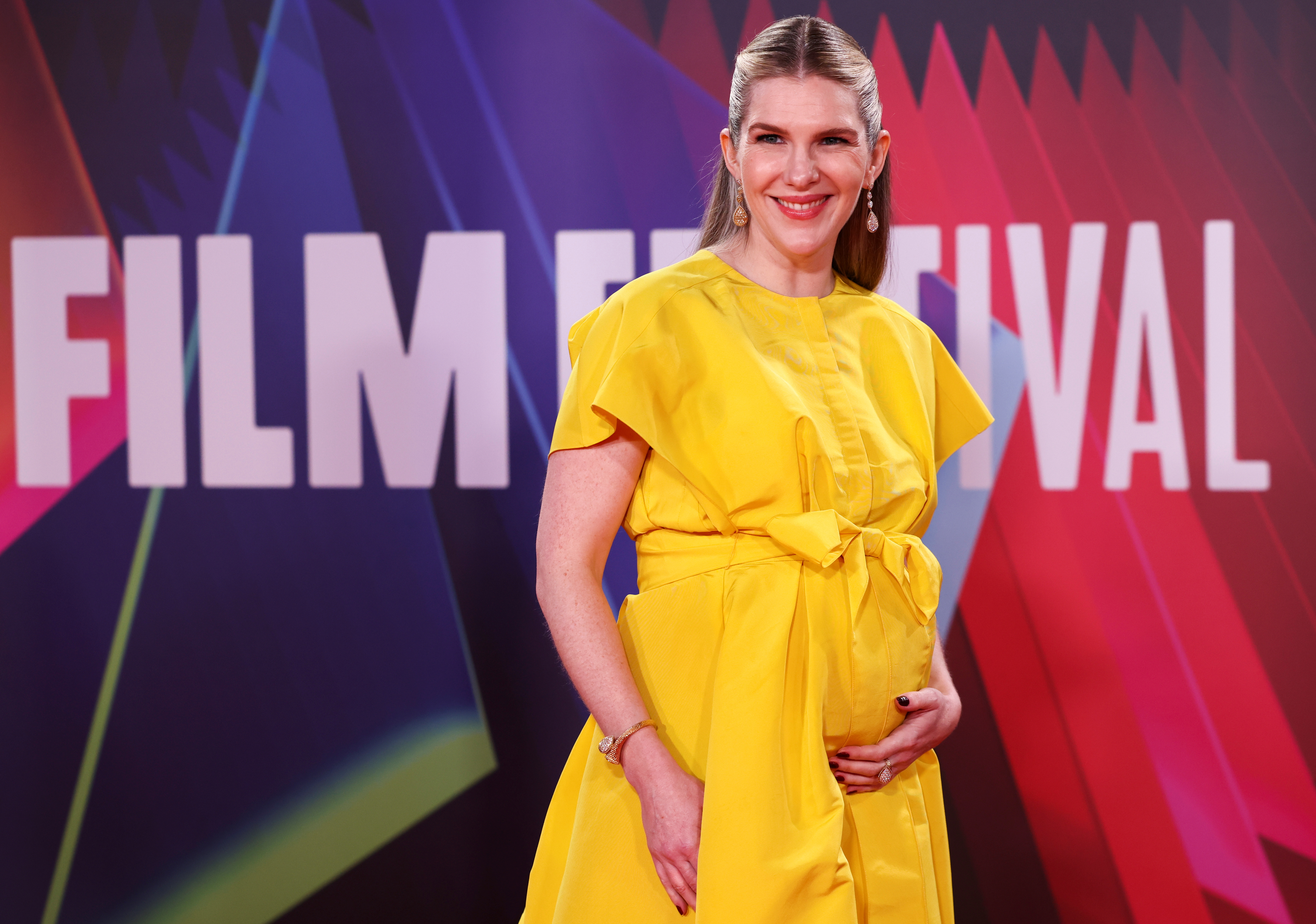 Cast member Lily Rabe arrives for a screening of the film
