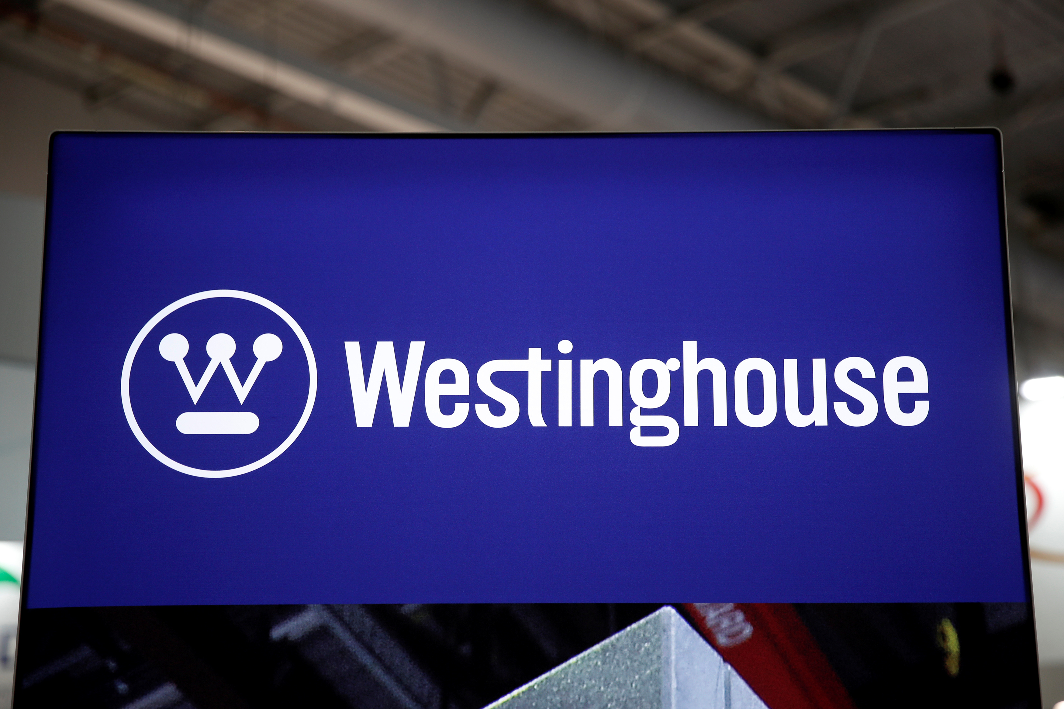 The logo of Westinghouse Electric Corp. is pictured at the World Nuclear Exhibition (WNE) in Villepinte near Paris, France, June 26, 2018. REUTERS/Benoit Tessier