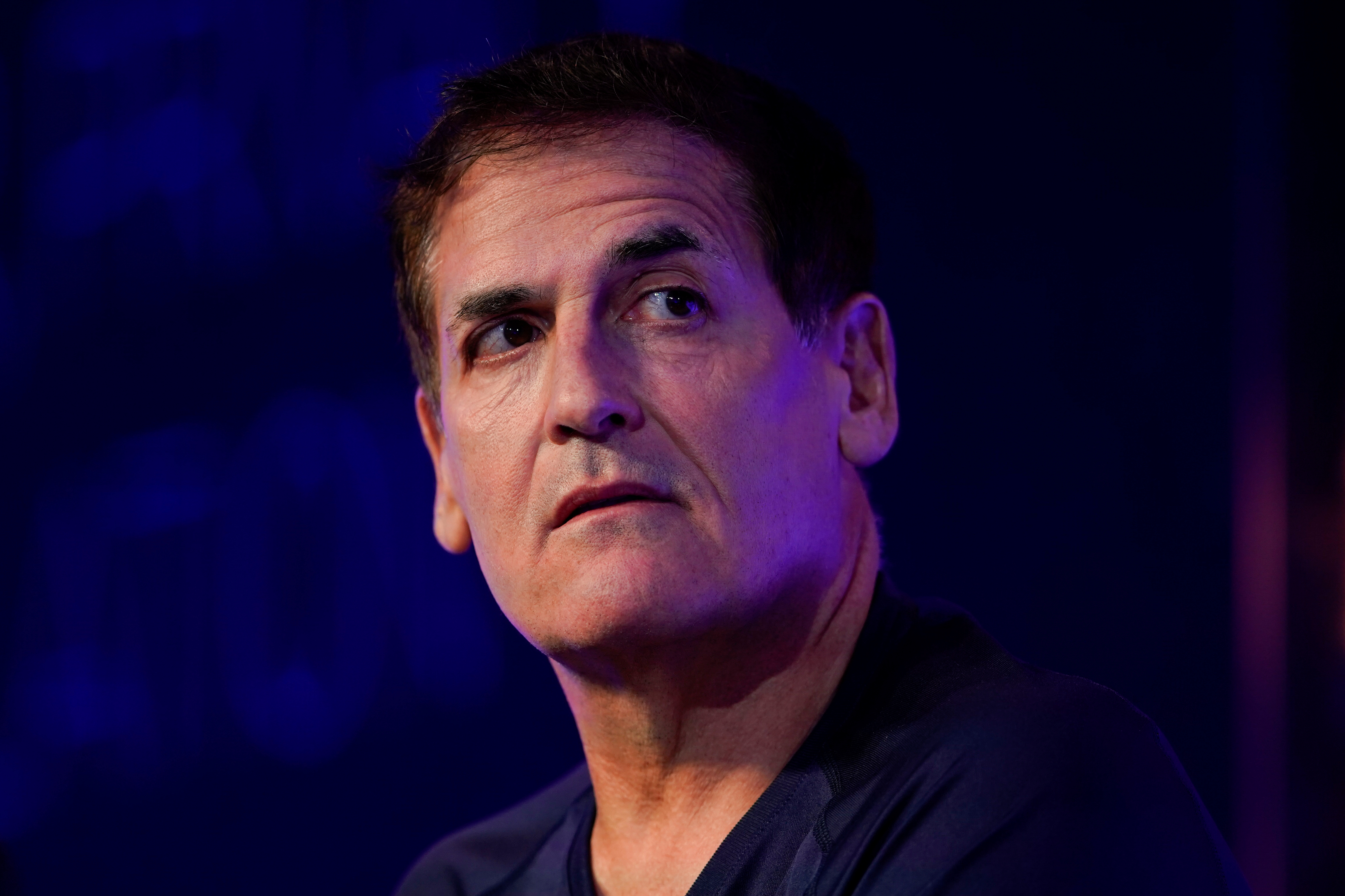 Mark Cuban, entrepreneur and owner of the Dallas Mavericks, speaks at the WSJTECH live conference in Laguna Beach, California, U.S. October 21, 2019.    REUTERS/ Mike Blake