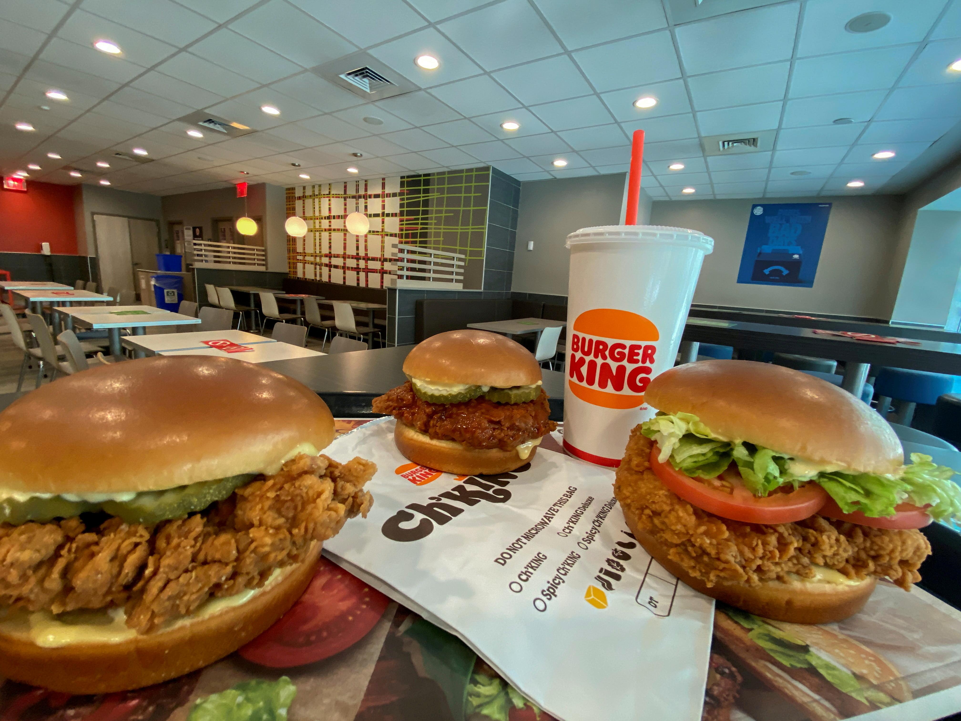Burger King's new chicken sandwiches