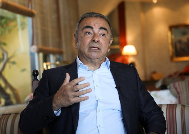 Fugitive former car executive Carlos Ghosn, gestures as he talks during an interview with Reuters in Beirut, Lebanon June 14, 2021. REUTERS/Mohamed Azakir