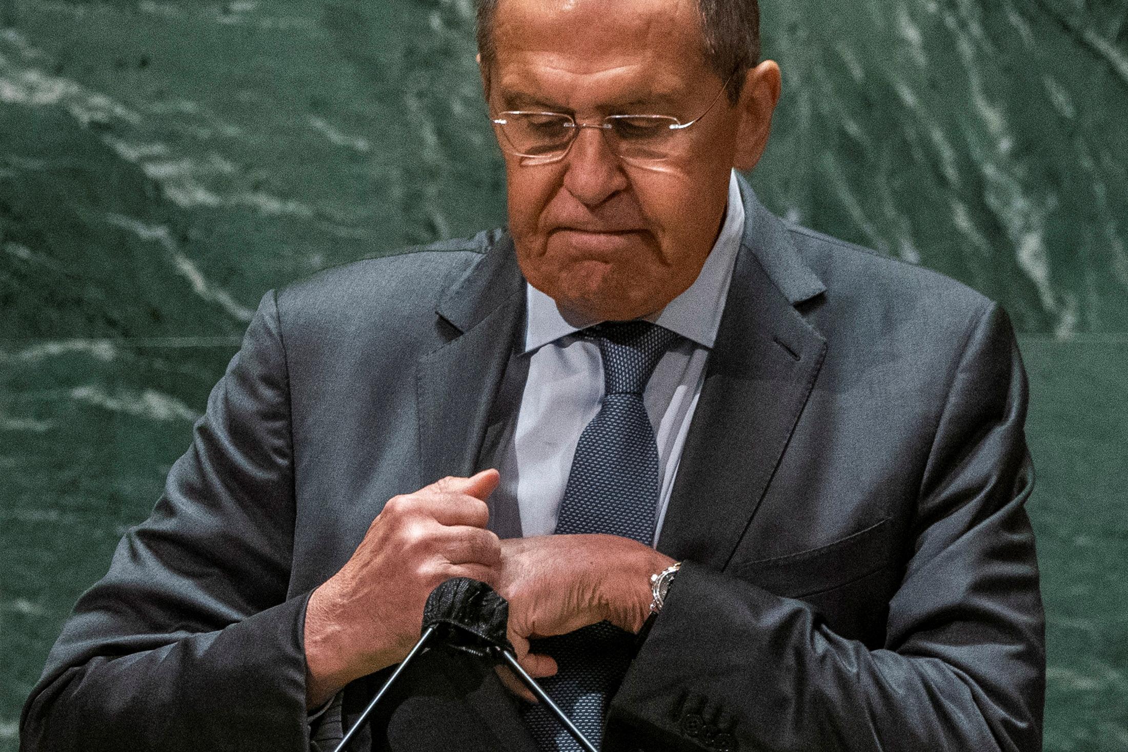 Russia's Foreign Minister Sergei Lavrov.  REUTERS/Eduardo Munoz