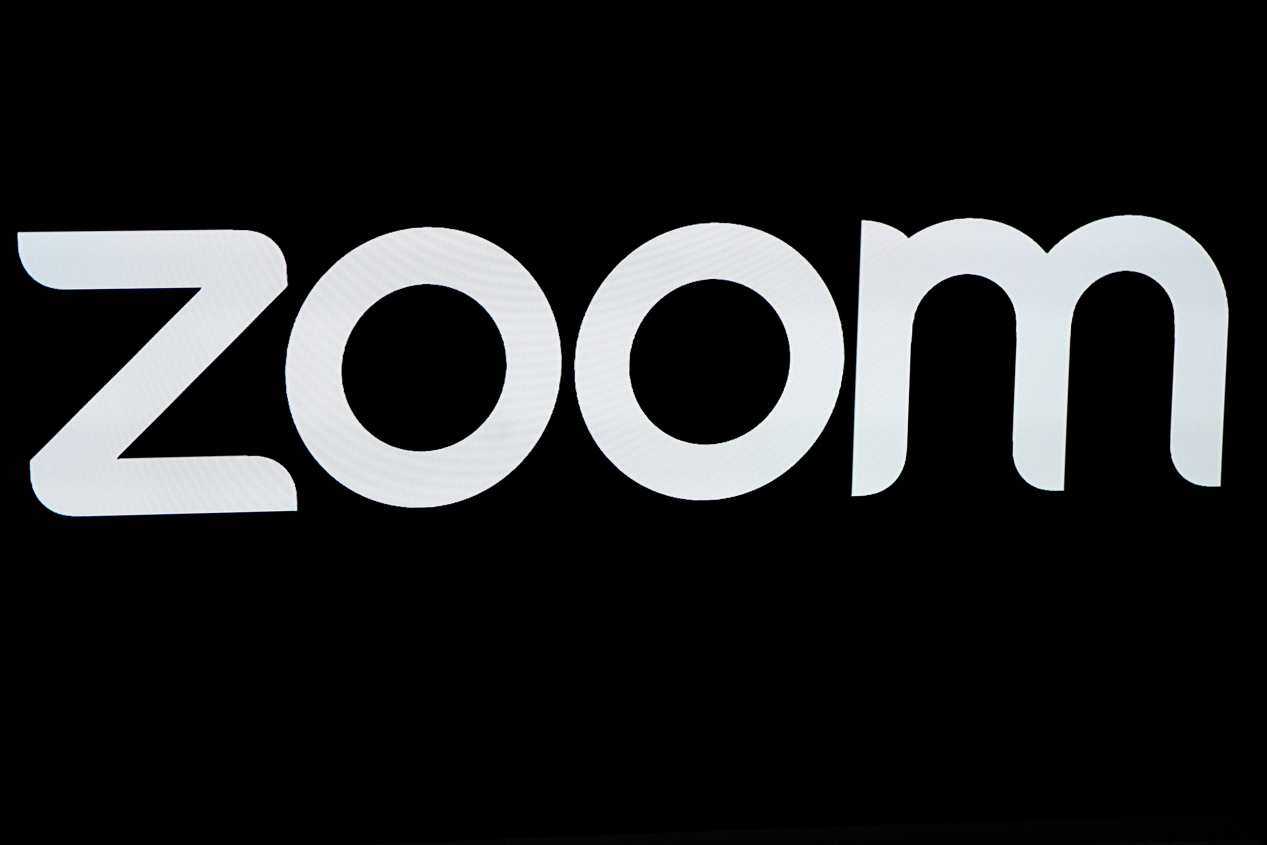 The Zoom Video Communications logo is pictured at the NASDAQ MarketSite in New York, New York, U.S., April 18, 2019.  REUTERS/Carlo Allegri