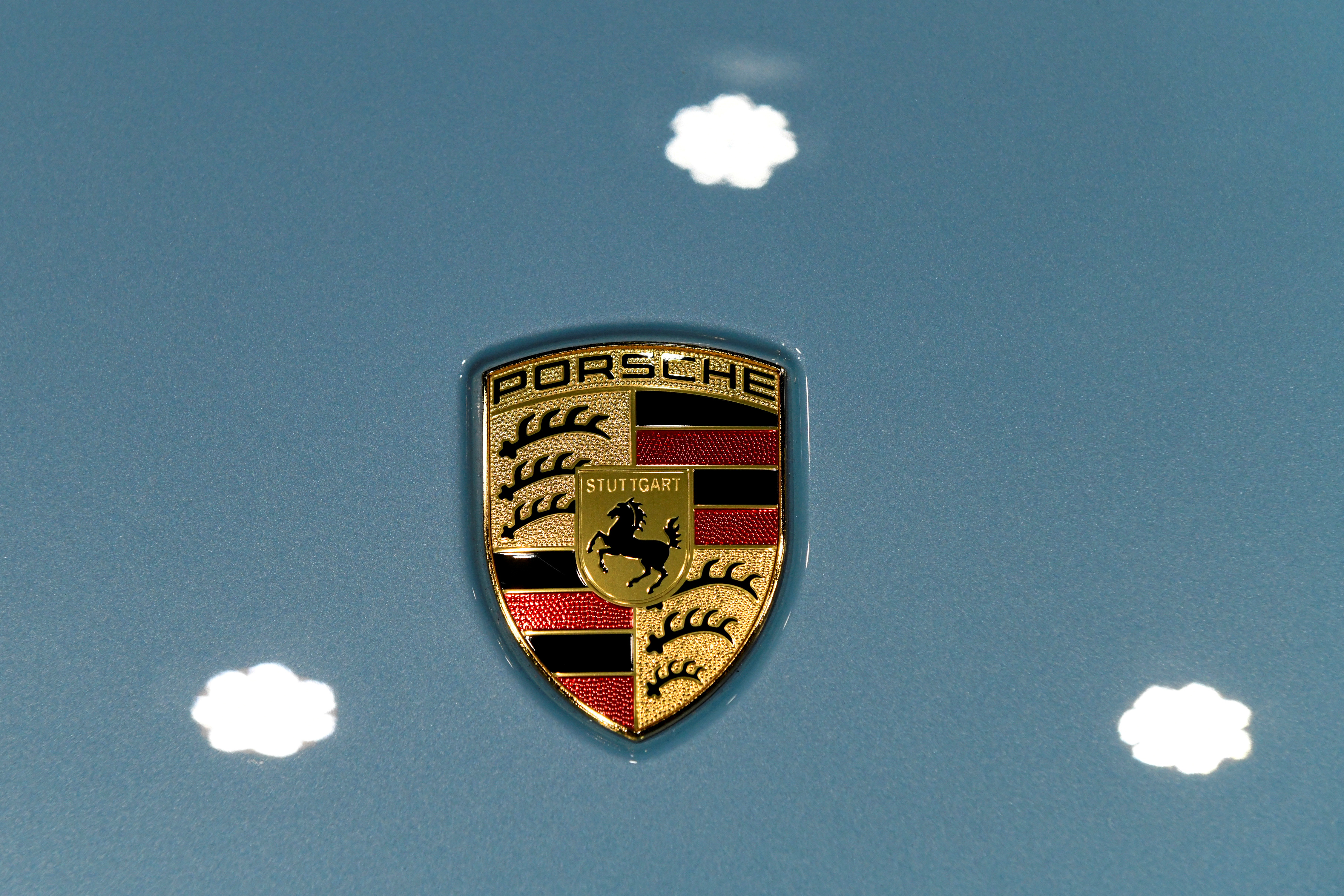 The Porsche logo is seen on a vehicle at the LA Auto Show in Los Angeles, California, U.S., November 20, 2019. REUTERS/Andrew Cullen