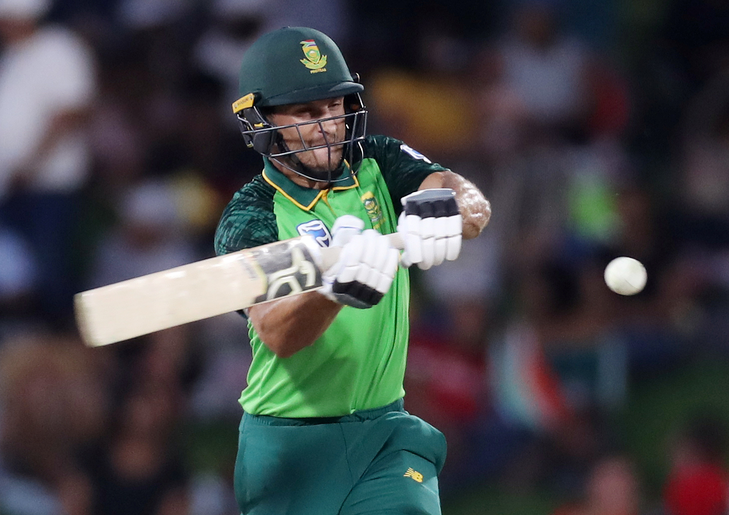 Cricket - South Africa v Australia - Second ODI - Mangaung Oval, Bloemfontein, South Africa - March 4, 2020   South Africa's Janneman Malan in action   REUTERS/Siphiwe Sibeko