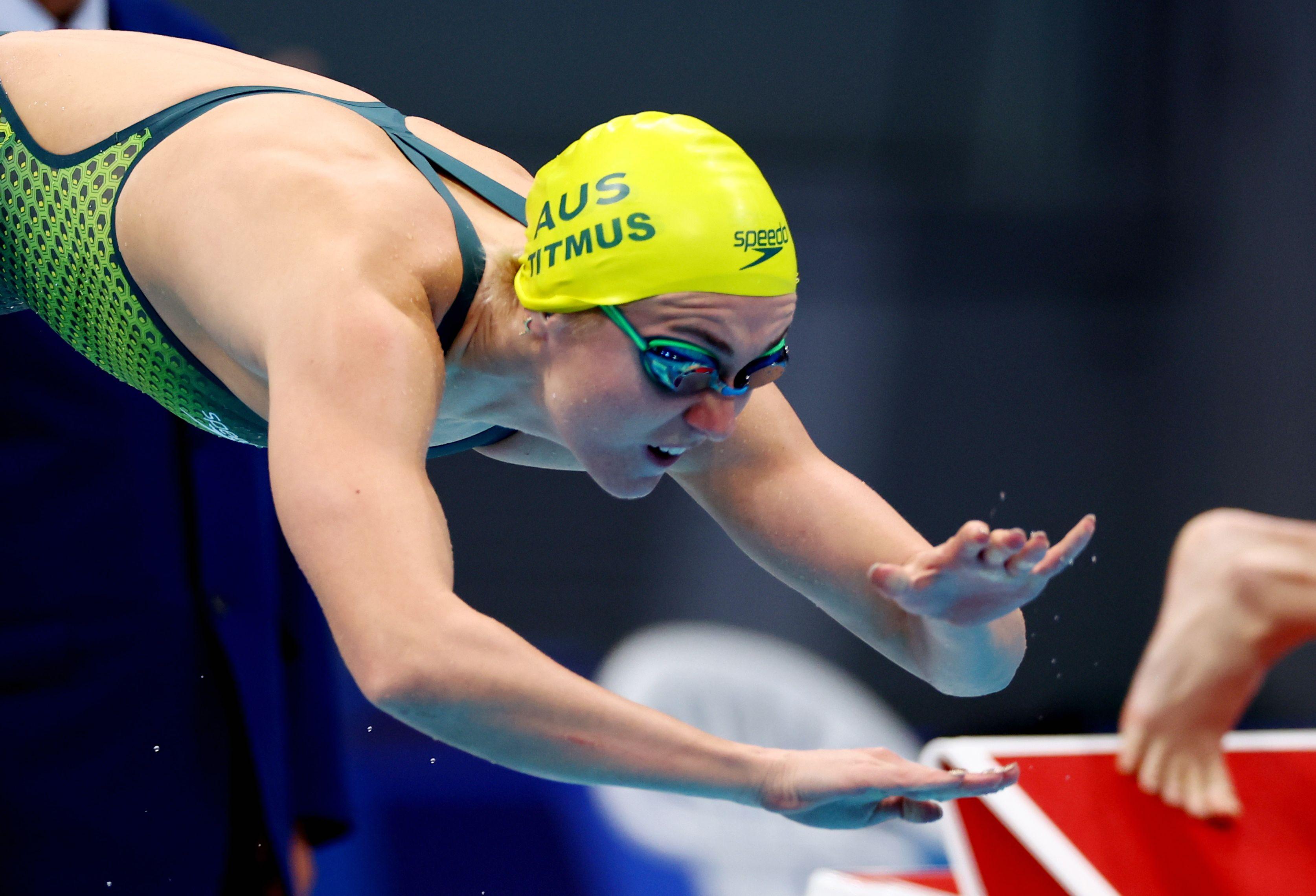 Tokyo 2020 Olympics - Swimming - Women's 200m Freestyle - Final - Tokyo Aquatics Centre - Tokyo, Japan - July 28, 2021. Ariarne Titmus of Australia  in action REUTERS/Kai Pfaffenbach