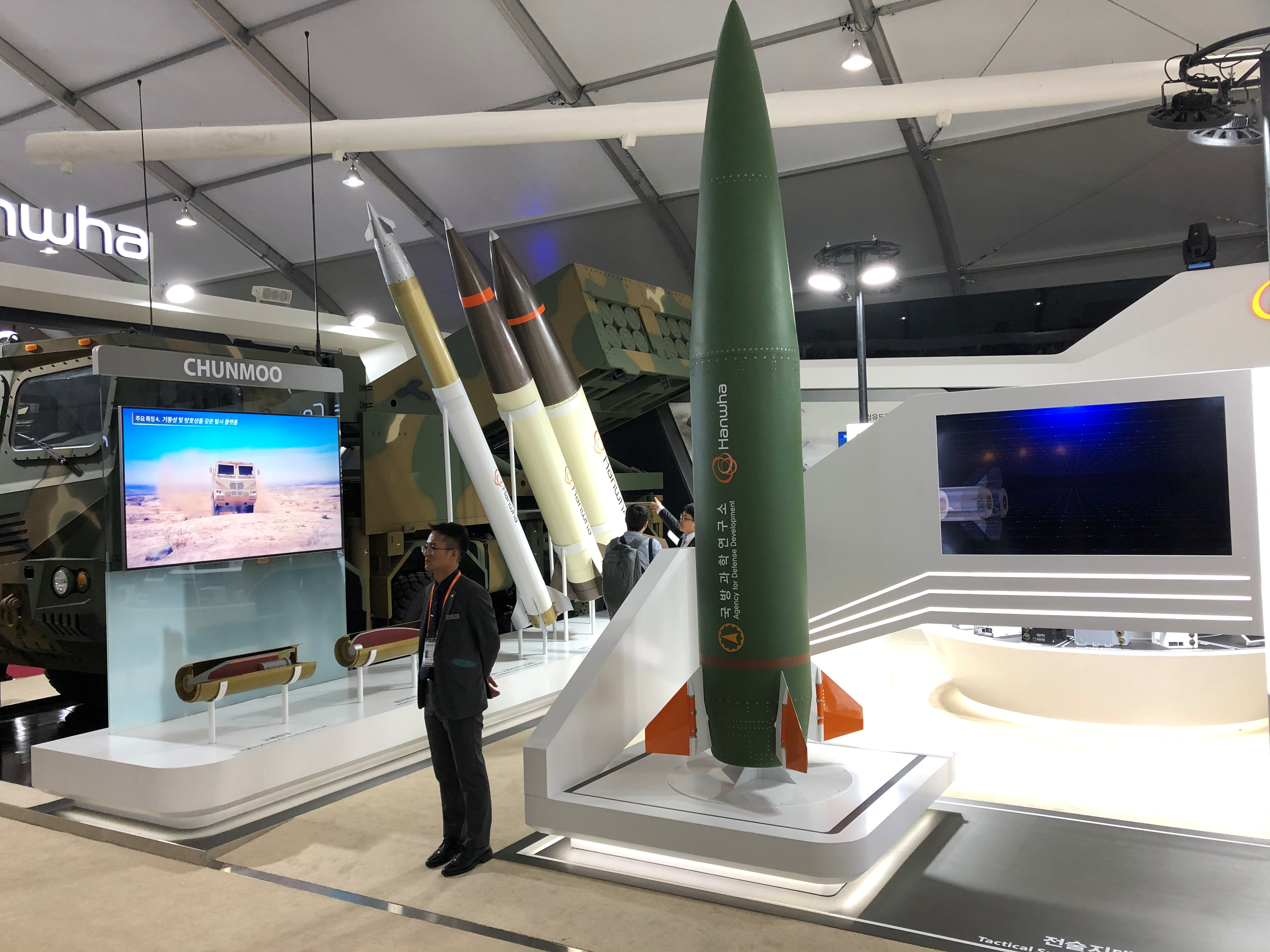 A tactical surface-to-surface missile developed by South Korea