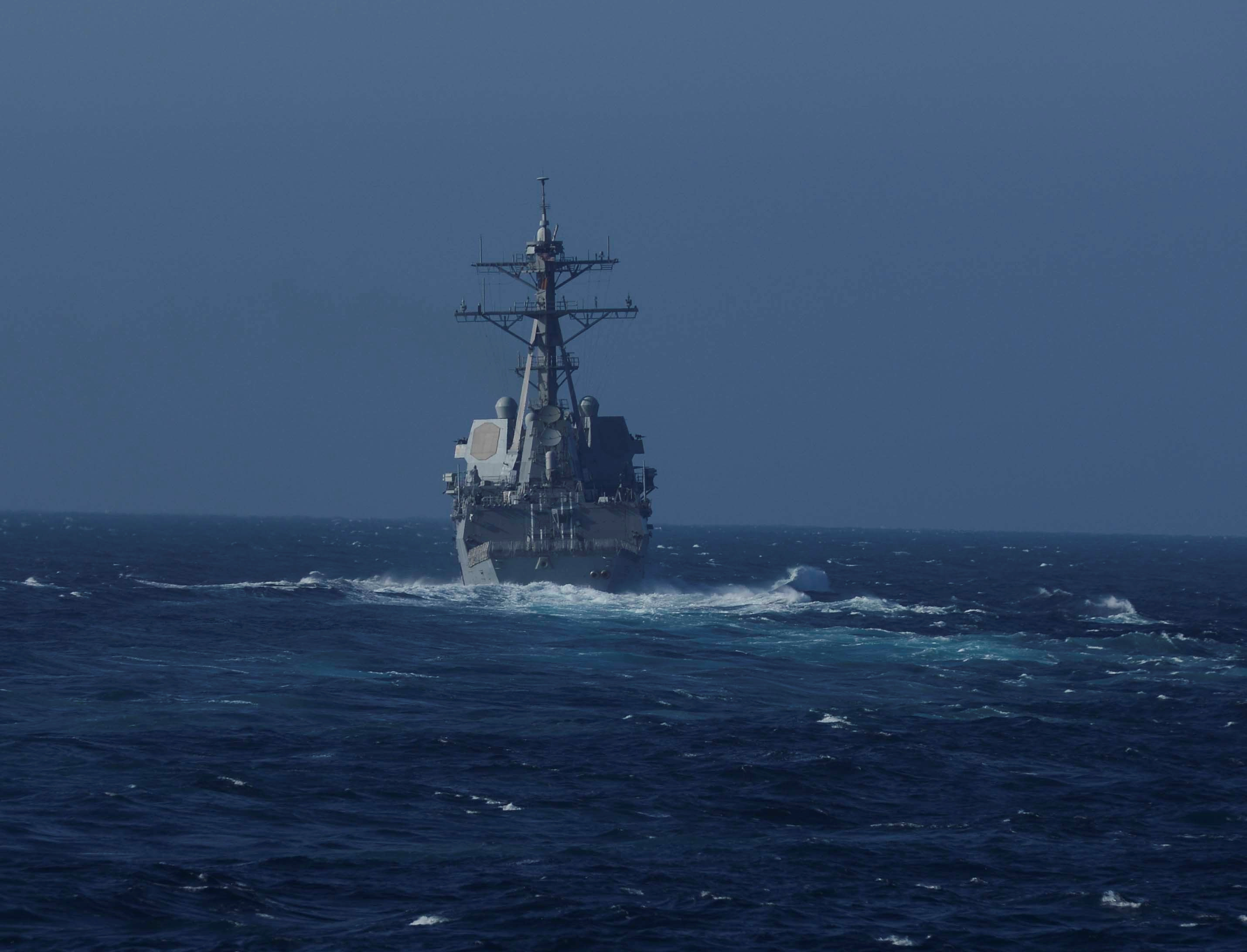 Russia says it chased U.S. naval destroyer away from its waters