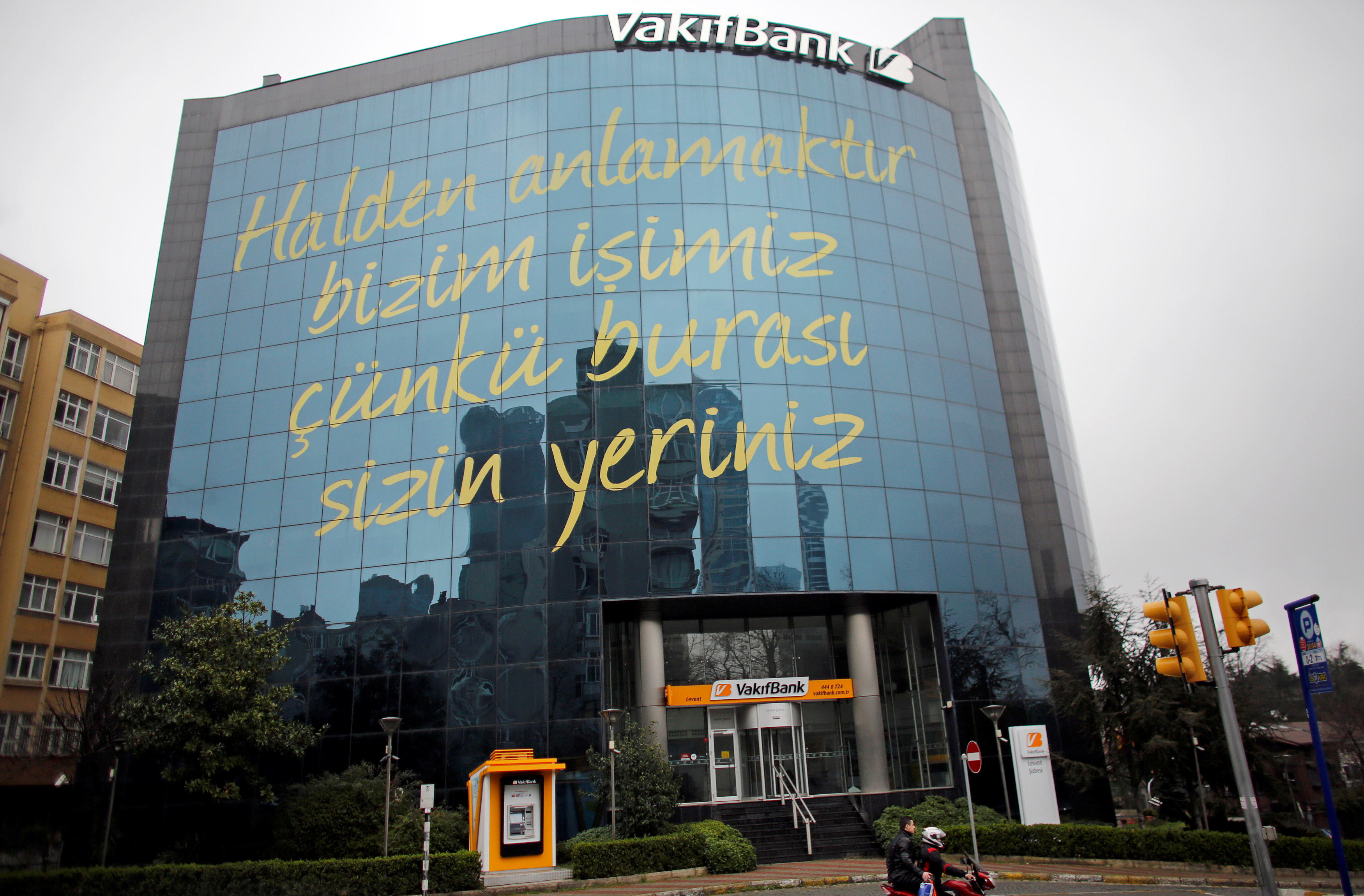 The headquarters of state-run bank Vakifbank is seen in Istanbul March 15, 2015.REUTERS/Murad Sezer/File Photo
