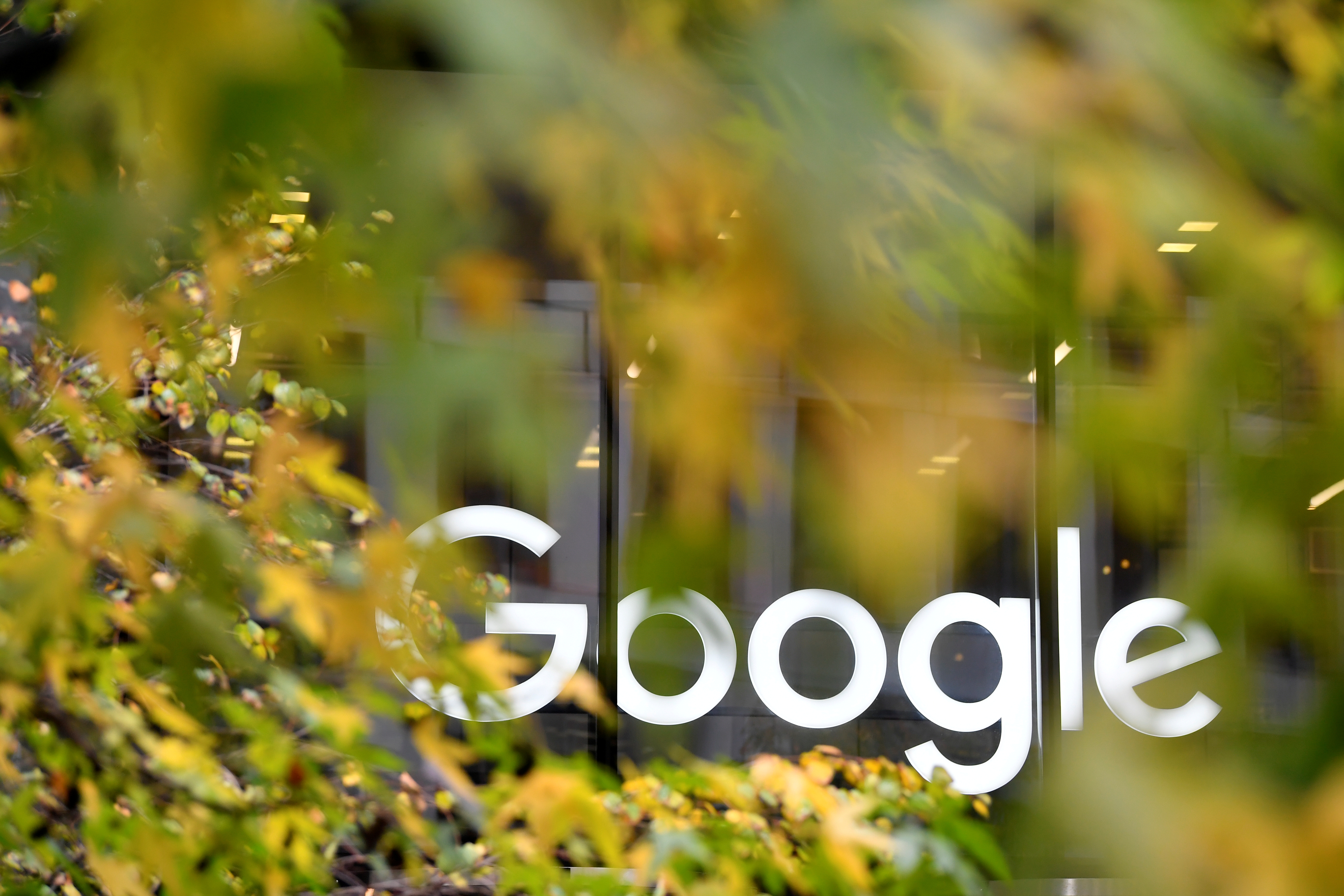 The Google name is displayed outside the company's office in London, Britain November 1, 2018.  REUTERS/Toby Melville