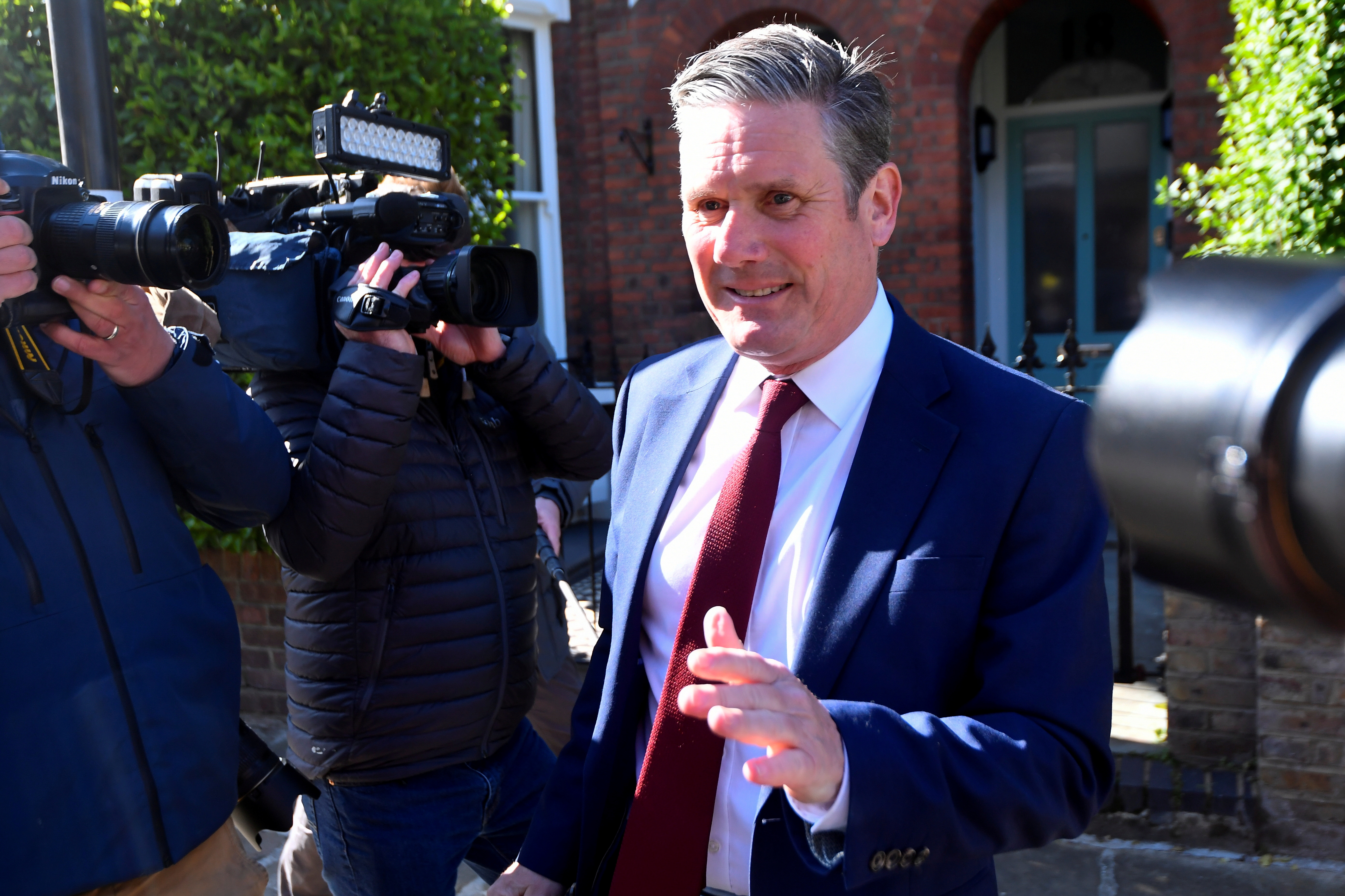 Britain's Labour Party leader Keir Starmer leaves his home after local elections in London, Britain May 7, 2021. REUTERS/Toby Melville/File Photo