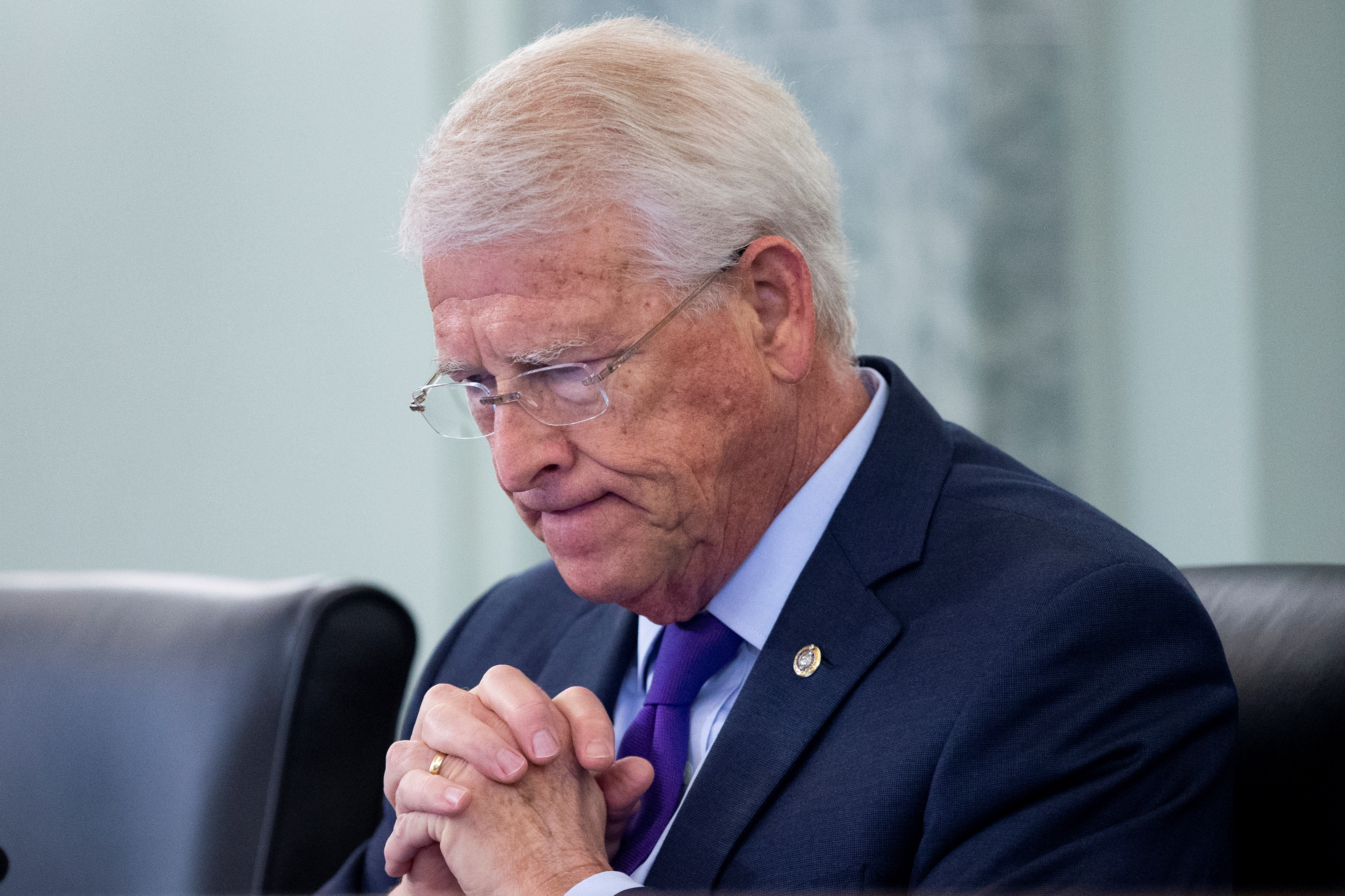 Committee Chairman Roger Wicker (R-MS) attends the Senate Commerce, Science, and Transportation Committee hearing