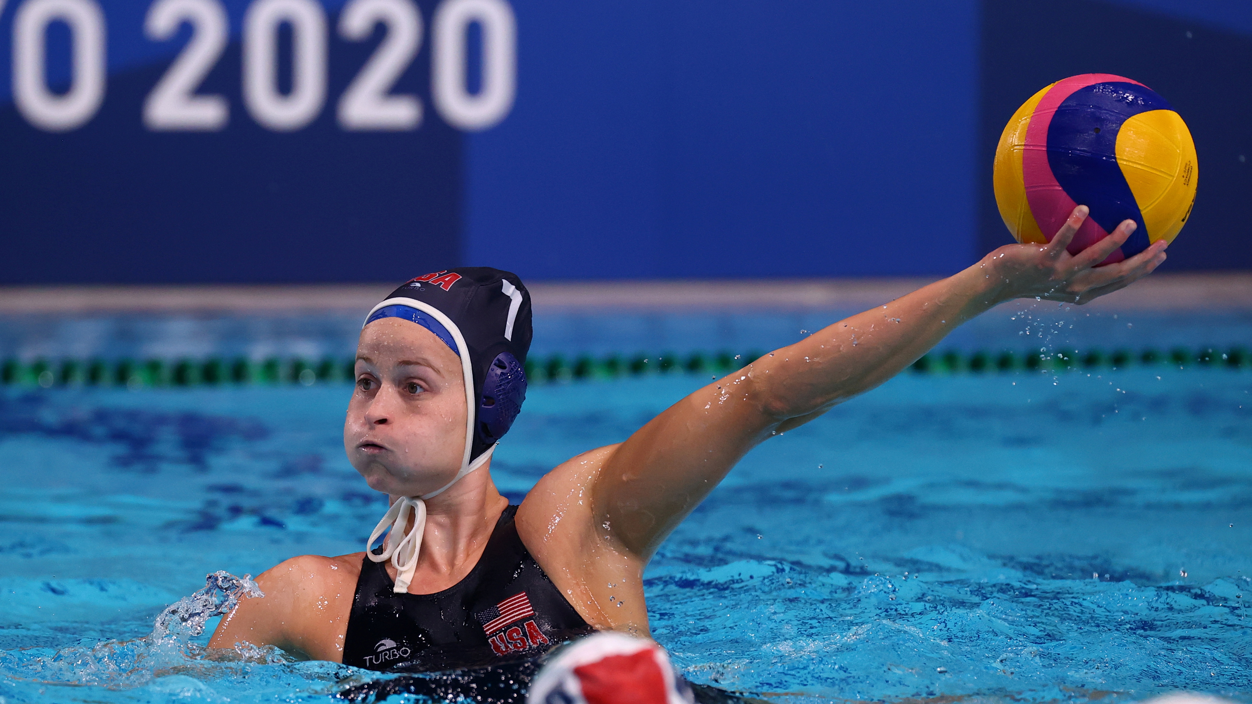 Tokyo 2020 Olympics - Water Polo - Women - Group B - Hungary v United States - Tatsumi Water Polo Centre, Tokyo, Japan - July 28, 2021. Stephanie Haralabidis of the United States in action. REUTERS/Kacper Pempel