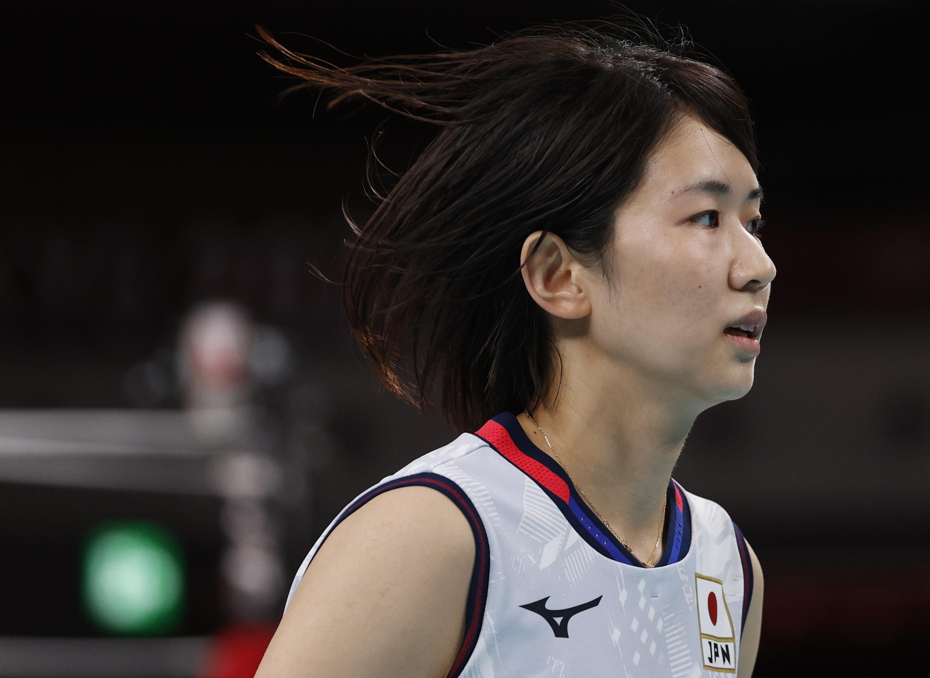Tokyo 2020 Olympics - Volleyball - Women's Pool A - Japan v South Korea - Ariake Arena, Tokyo, Japan – July 31, 2021. Sarina Koga of Japan during the match REUTERS/Valentyn Ogirenko