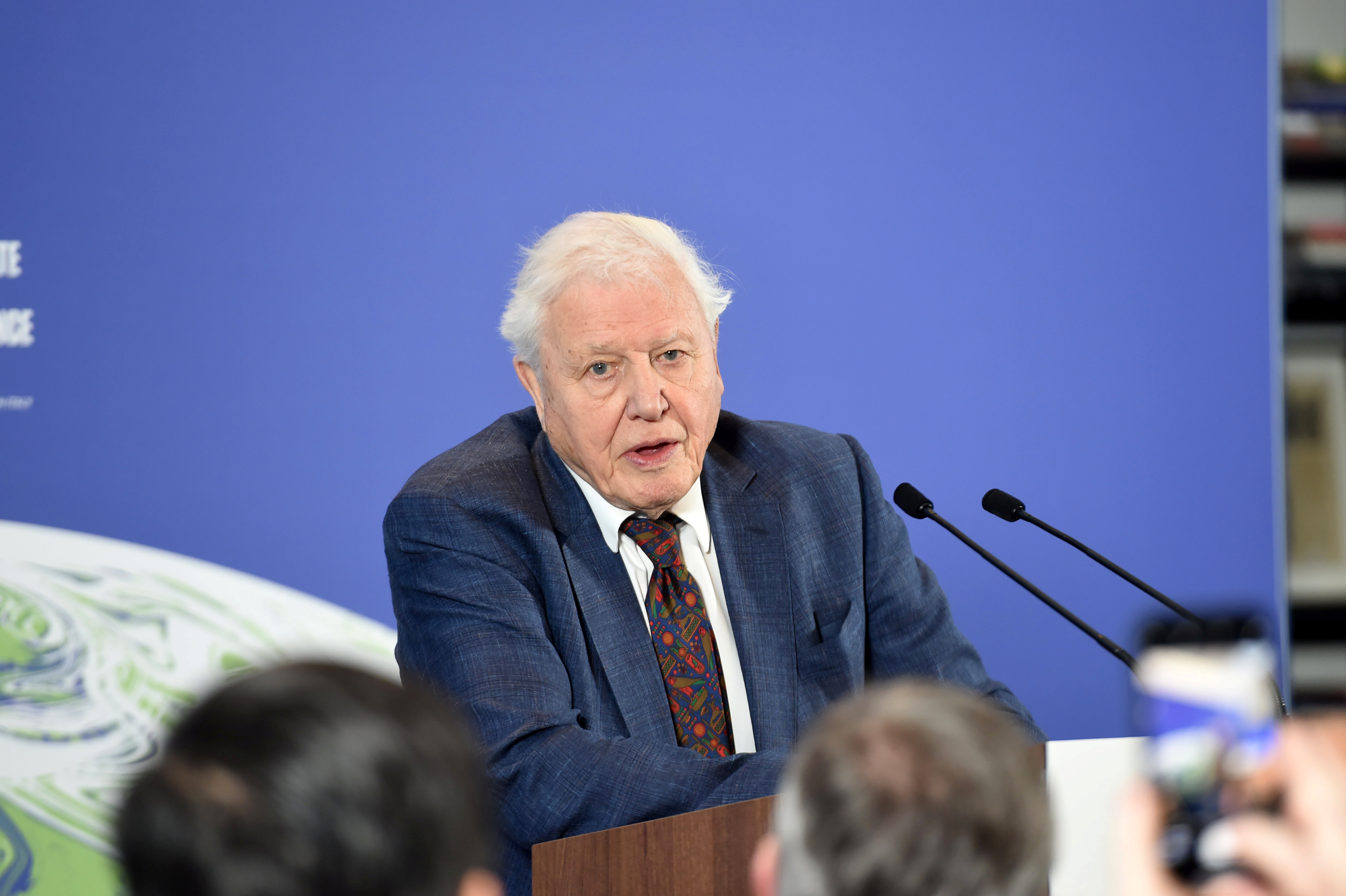 David Attenborough attends a conference about the COP26 UN Climate Summit, in London, Britain February 4, 2020. Jeremy Selwyn/Pool via REUTERS