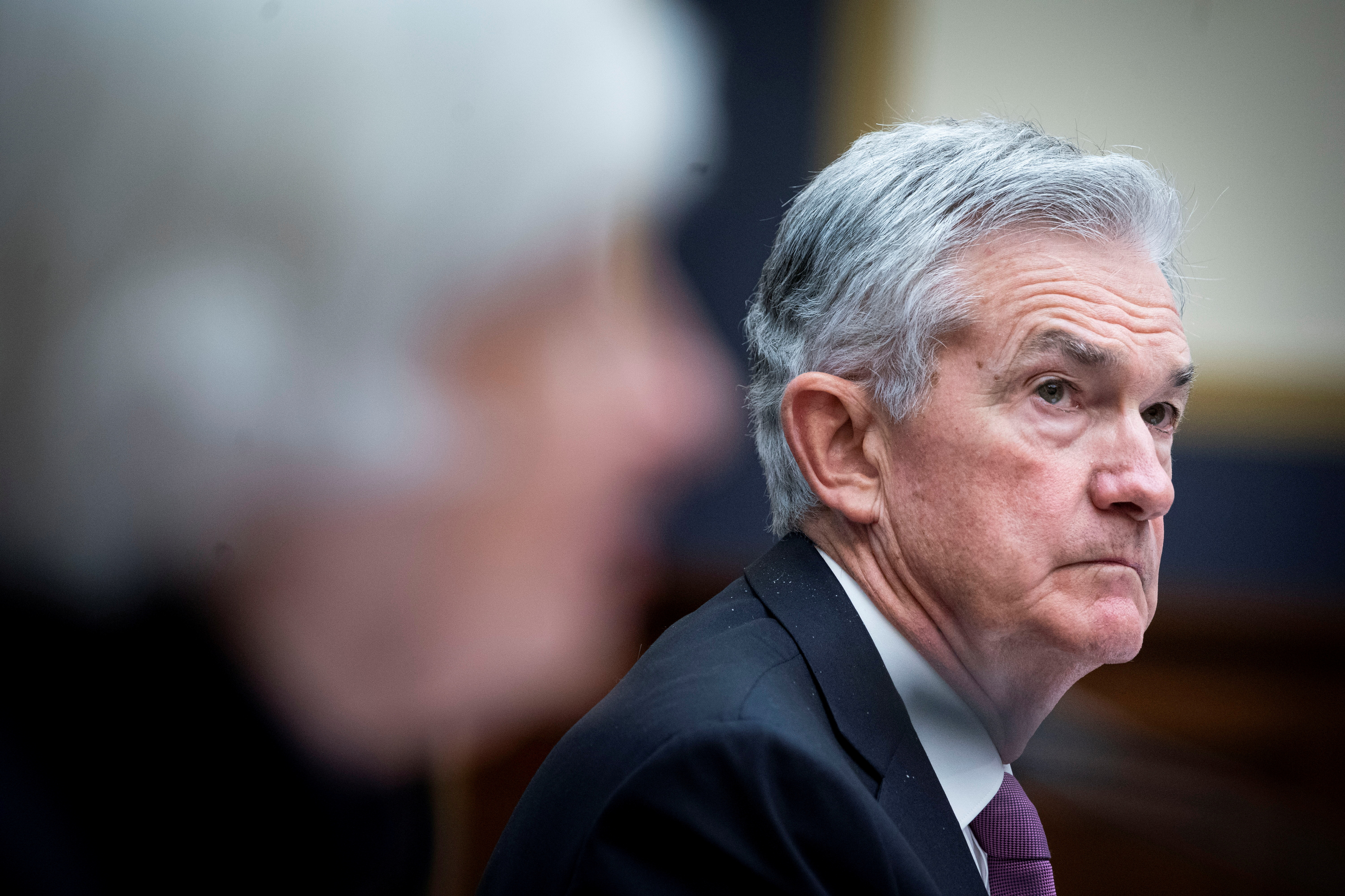 Federal Reserve Chair Jerome Powell attends the House Financial Services Committee hearing on Capitol Hill in Washington, U.S., September 30, 2021. Al Drago/Pool via REUTERS