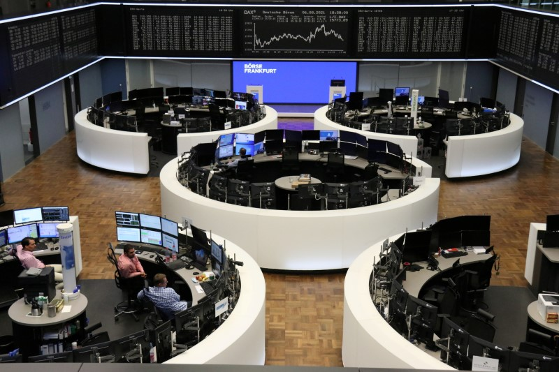 The German share price index DAX graph is pictured at the stock exchange in Frankfurt, Germany August 6, 2021. REUTERS/Staff