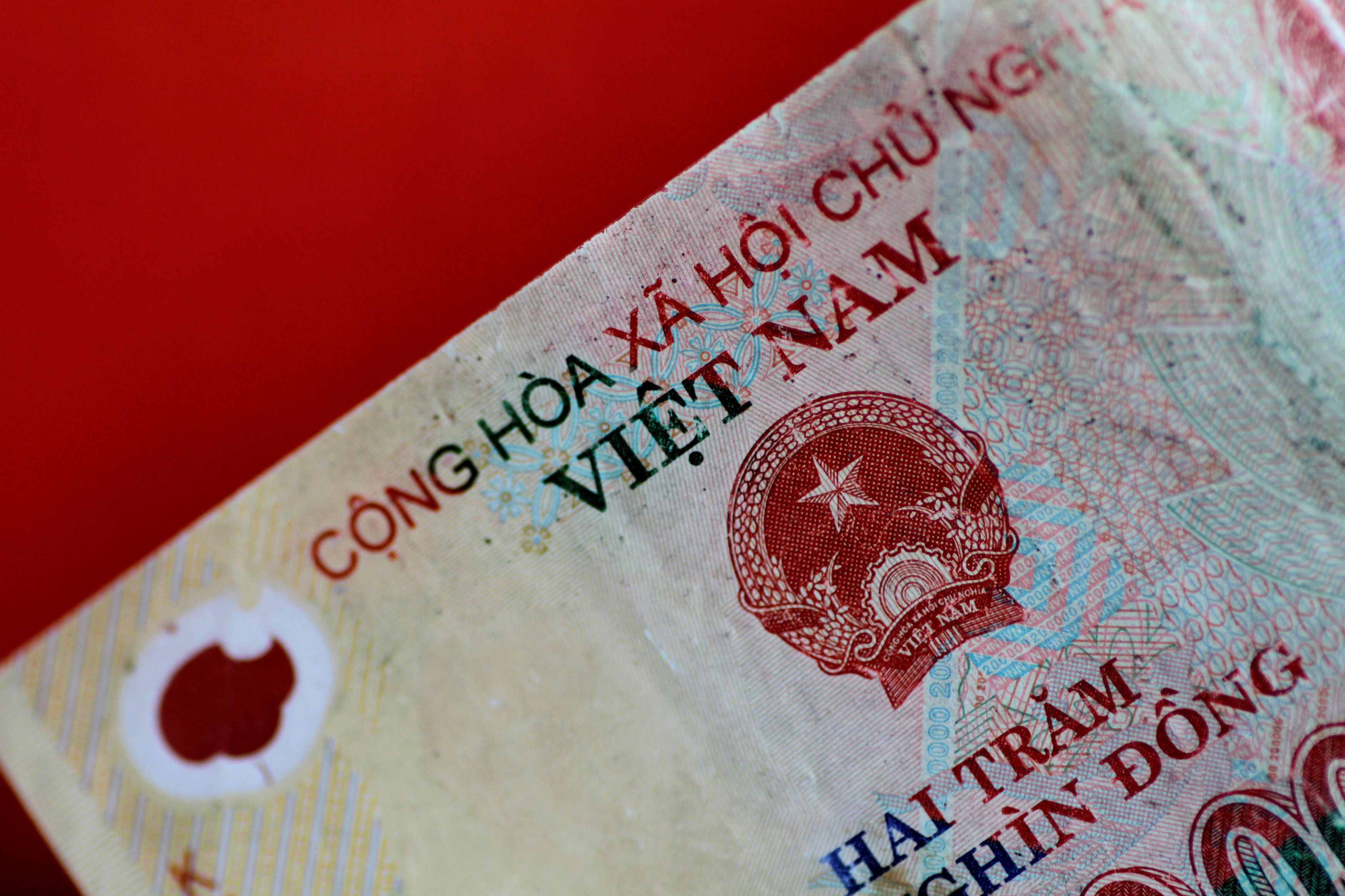 A Vietnam Dong note is seen in this illustration photo May 31, 2017.     REUTERS/Thomas White/Illustration