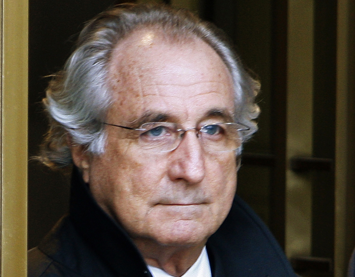 Bernard Madoff exits the Manhattan federal court house in New York in this January 14, 2009 file photo.   REUTERS/Brendan McDermid/File Photo