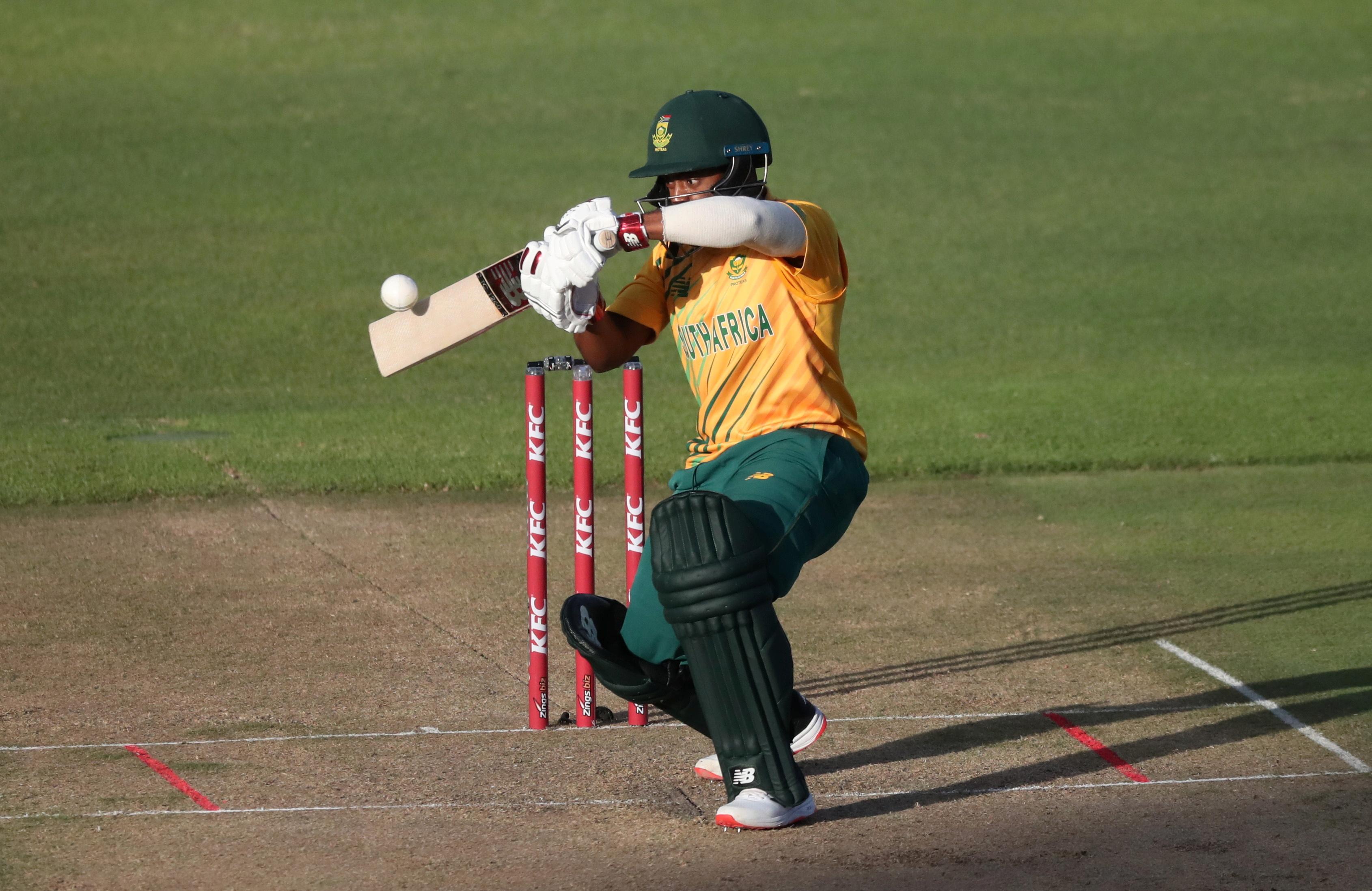 Cricket - Third International Twenty20 - South Africa v England - Newlands Cricket Ground, Cape Town, South Africa - December 1, 2020  South Africa's Temba Bavuma in action REUTERS/Sumaya Hisham/File Photo