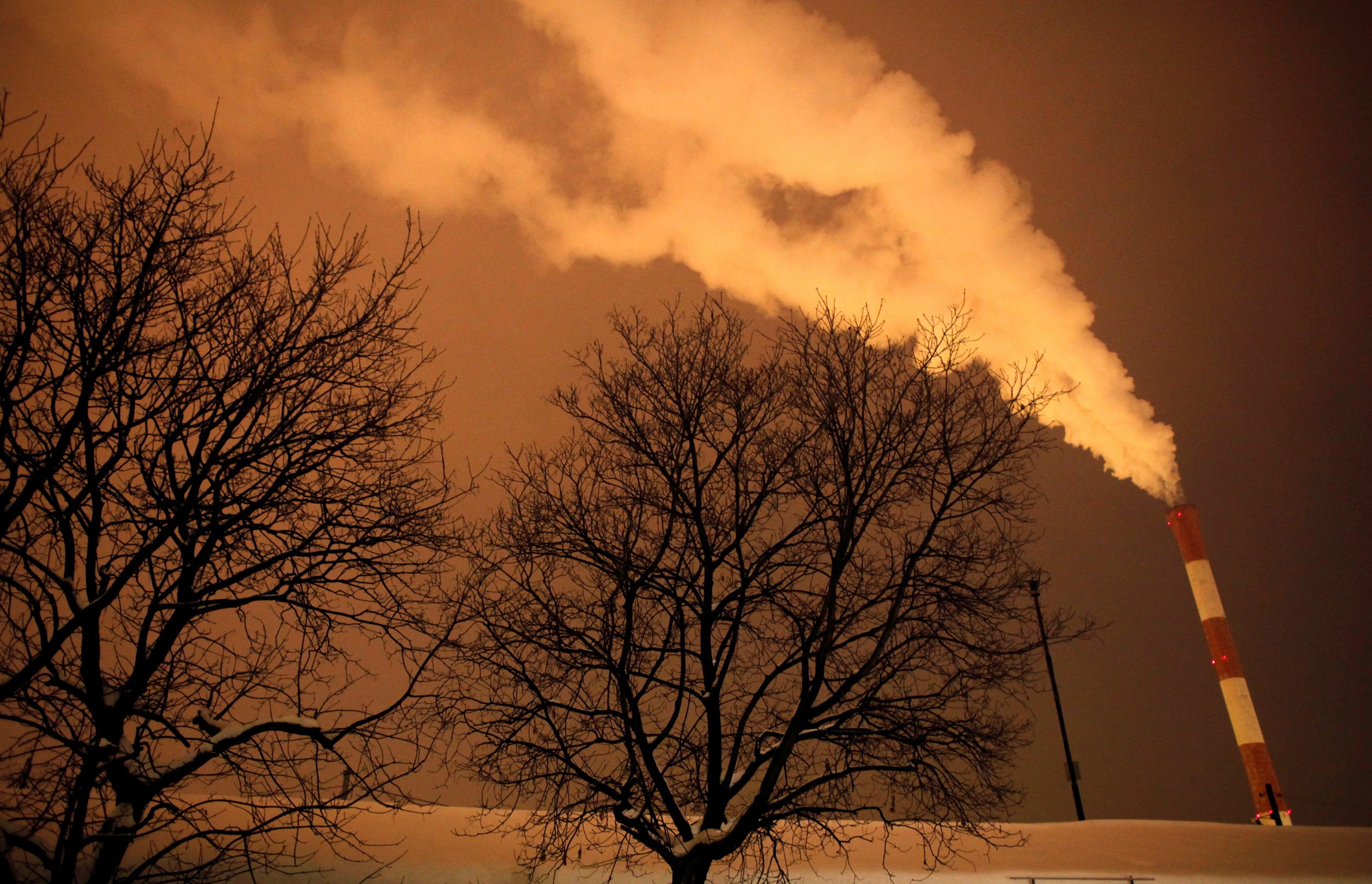 Steam and other emissions rise from a power station in Belgrade February 7, 2012. REUTERS/Marko Djurica