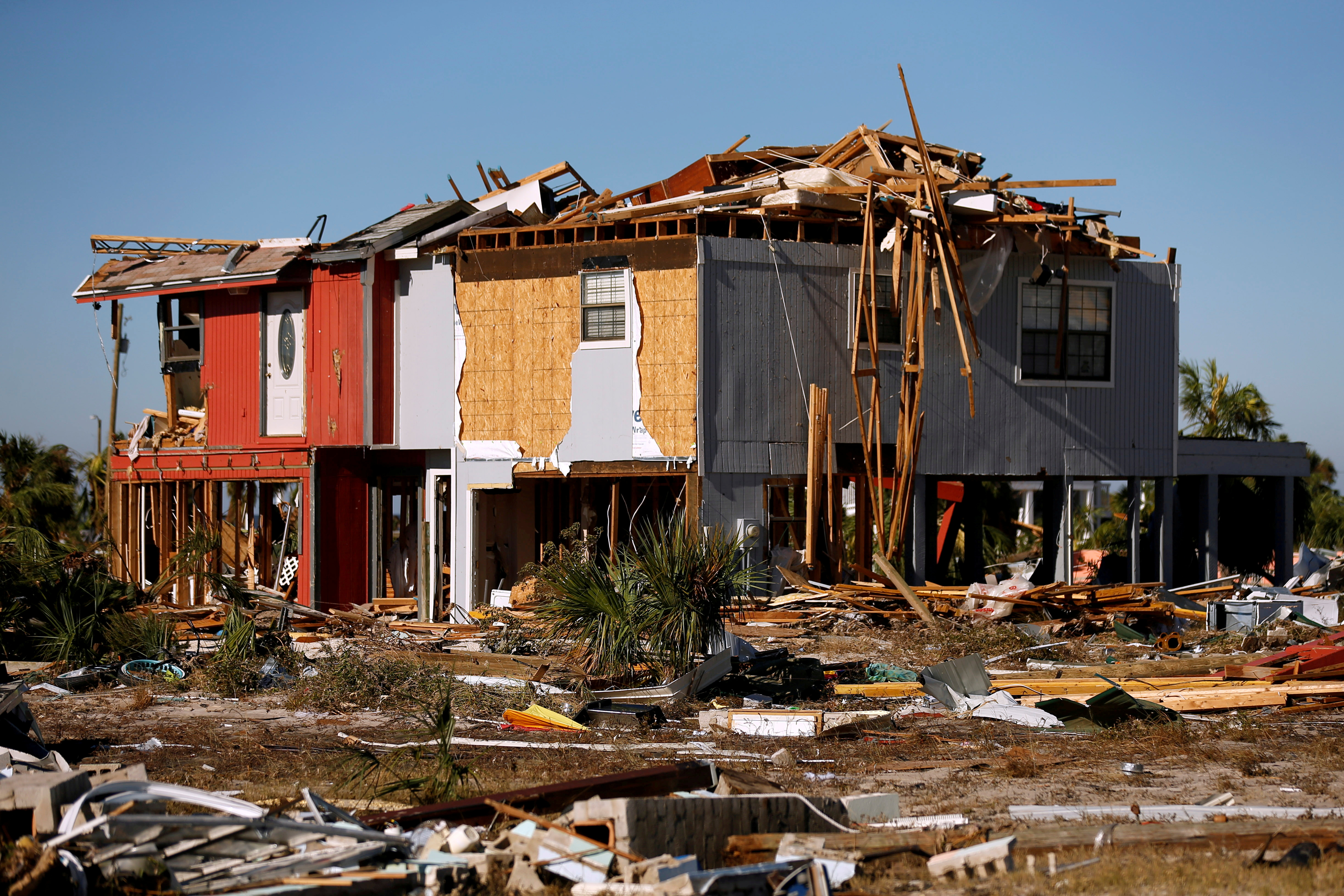 A house damaged by Hurricane Michael is pictured in Mexico Beach, Florida, U.S. October 12, 2018. REUTERS/Jonathan Bachman/File Photo