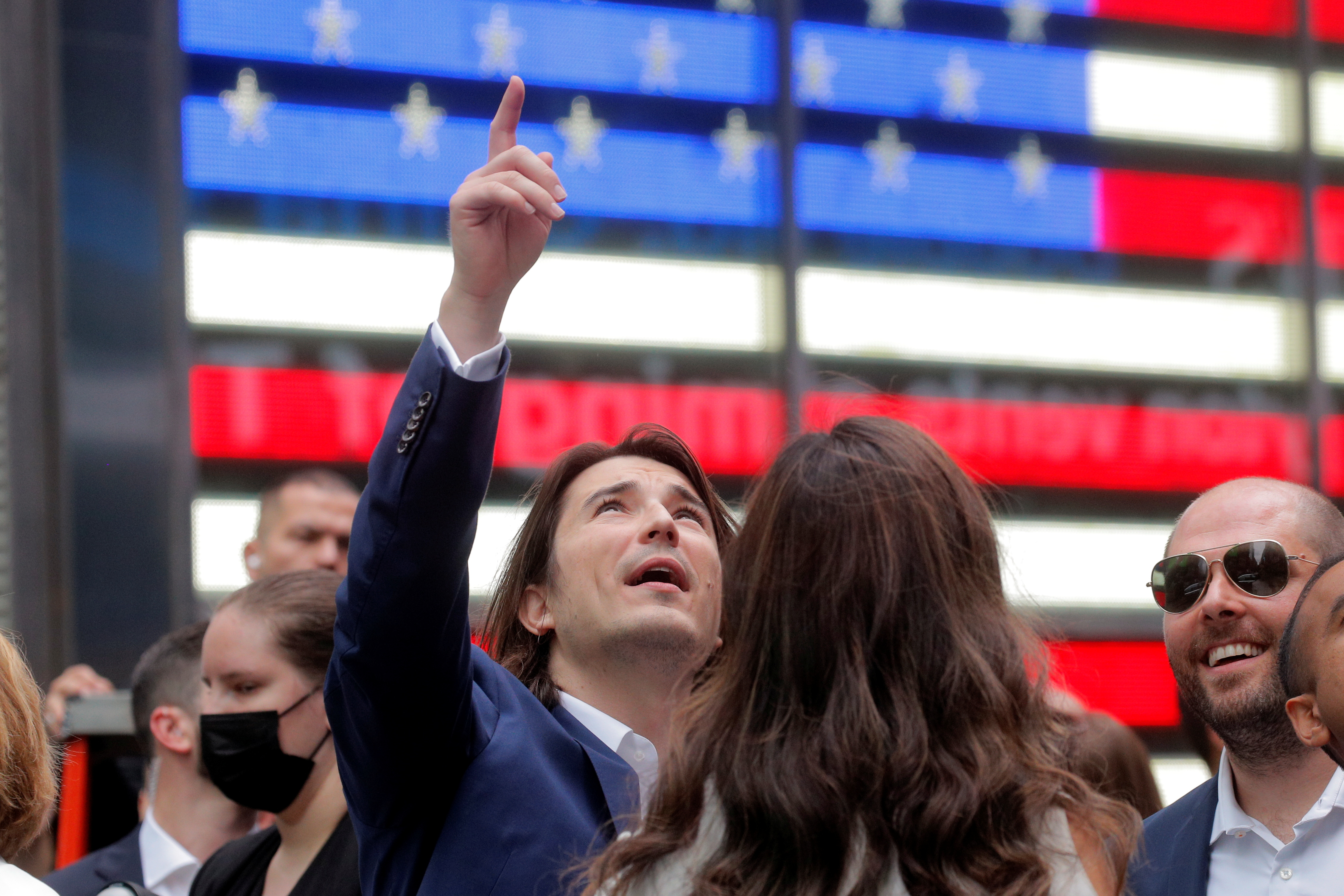 Vlad Tenev, CEO and co-founder Robinhood Markets, Inc., attends his company's IPO at the Nasdaq Market site in Times Square in New York City, U.S., July 29, 2021.  REUTERS/Brendan McDermid