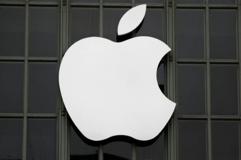 The Apple Inc logo is shown outside the company's 2016 Worldwide Developers Conference in San Francisco, California, U.S. June 13, 2016. REUTERS/Stephen Lam