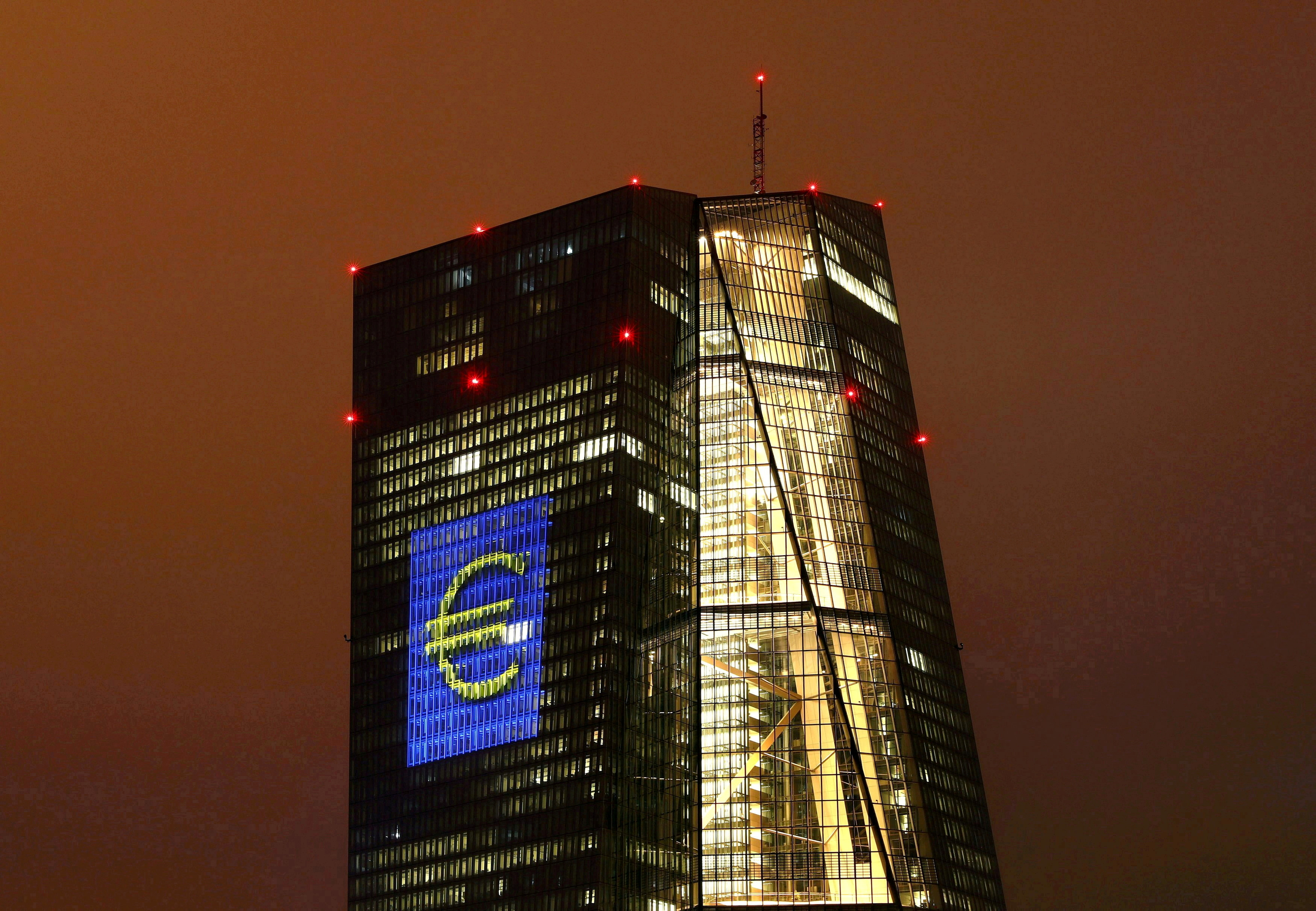 The headquarters of the European Central Bank (ECB) in Frankfurt, Germany, March 12, 2016. REUTERS/Kai Pfaffenbach/File Photo