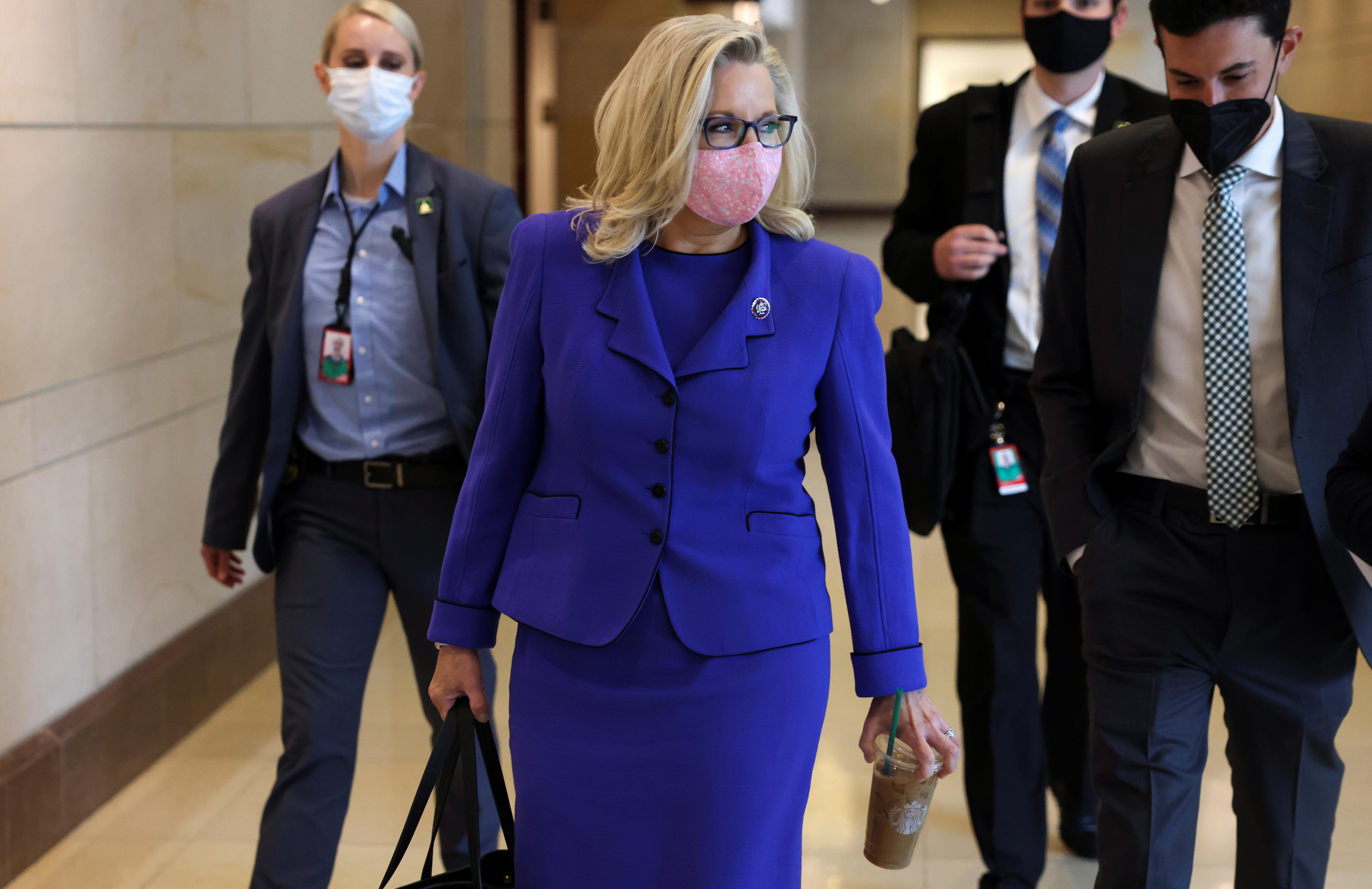 U.S. Representative Liz Cheney (R-WY) arrives on Capitol Hill in Washington, U.S., May 12, 2021. REUTERS/Evelyn Hockstein