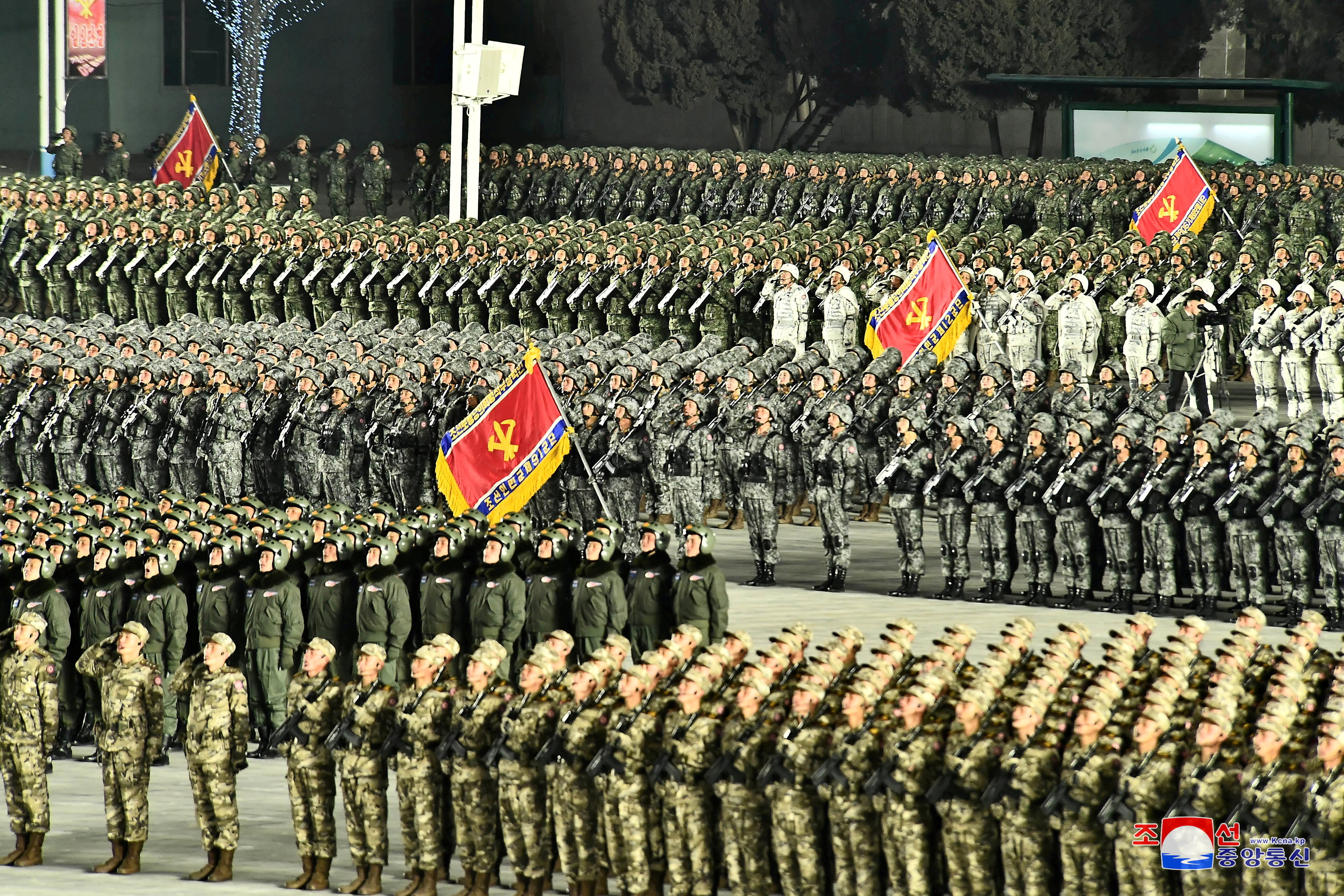 General view of a military parade to commemorate the 8th Congress of the Workers' Party in Pyongyang, North Korea January 14, 2021 in this photo supplied by North Korea's Central News Agency (KCNA).    KCNA via REUTERS