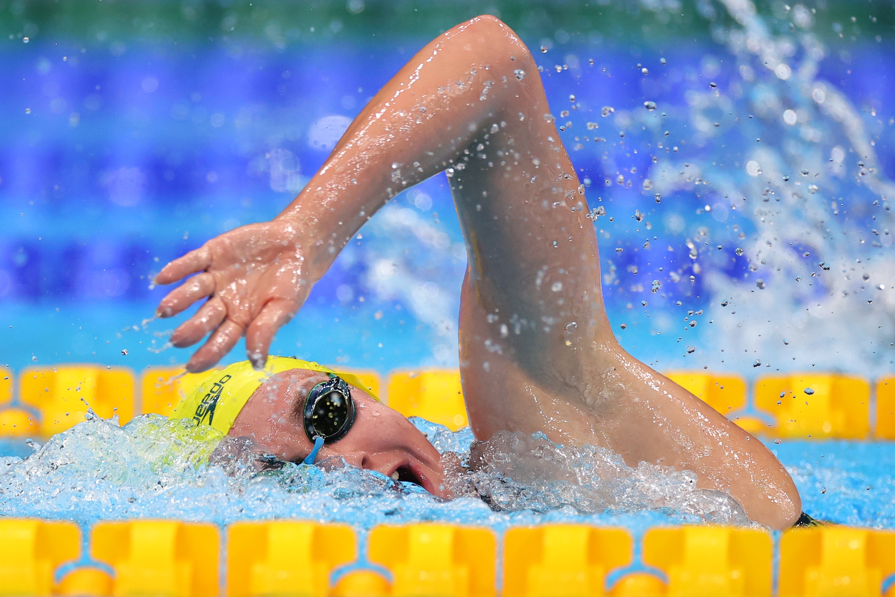 Tokyo 2020 Olympics - Swimming - Women's 800m Freestyle - Heats - Tokyo Aquatics Centre - Tokyo, Japan - July 29, 2021. Ariarne Titmus of Australia in action. REUTERS/Marko Djurica