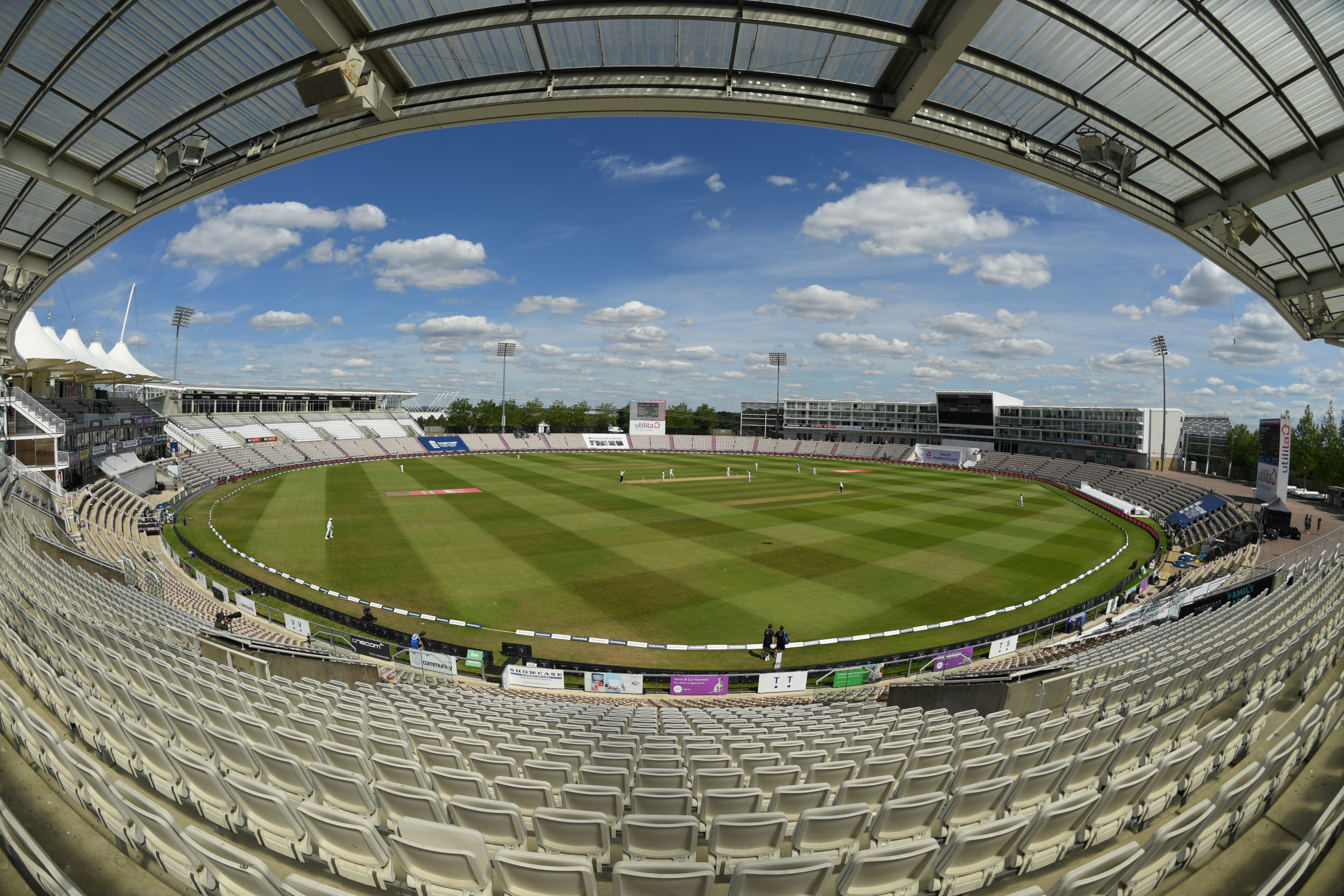 Cricket - First Test - England v West Indies - Rose Bowl Cricket Stadium, Southampton, Britain - July 12, 2020   General view during the match  Mike Hewitt/Pool via REUTERS/File Photo