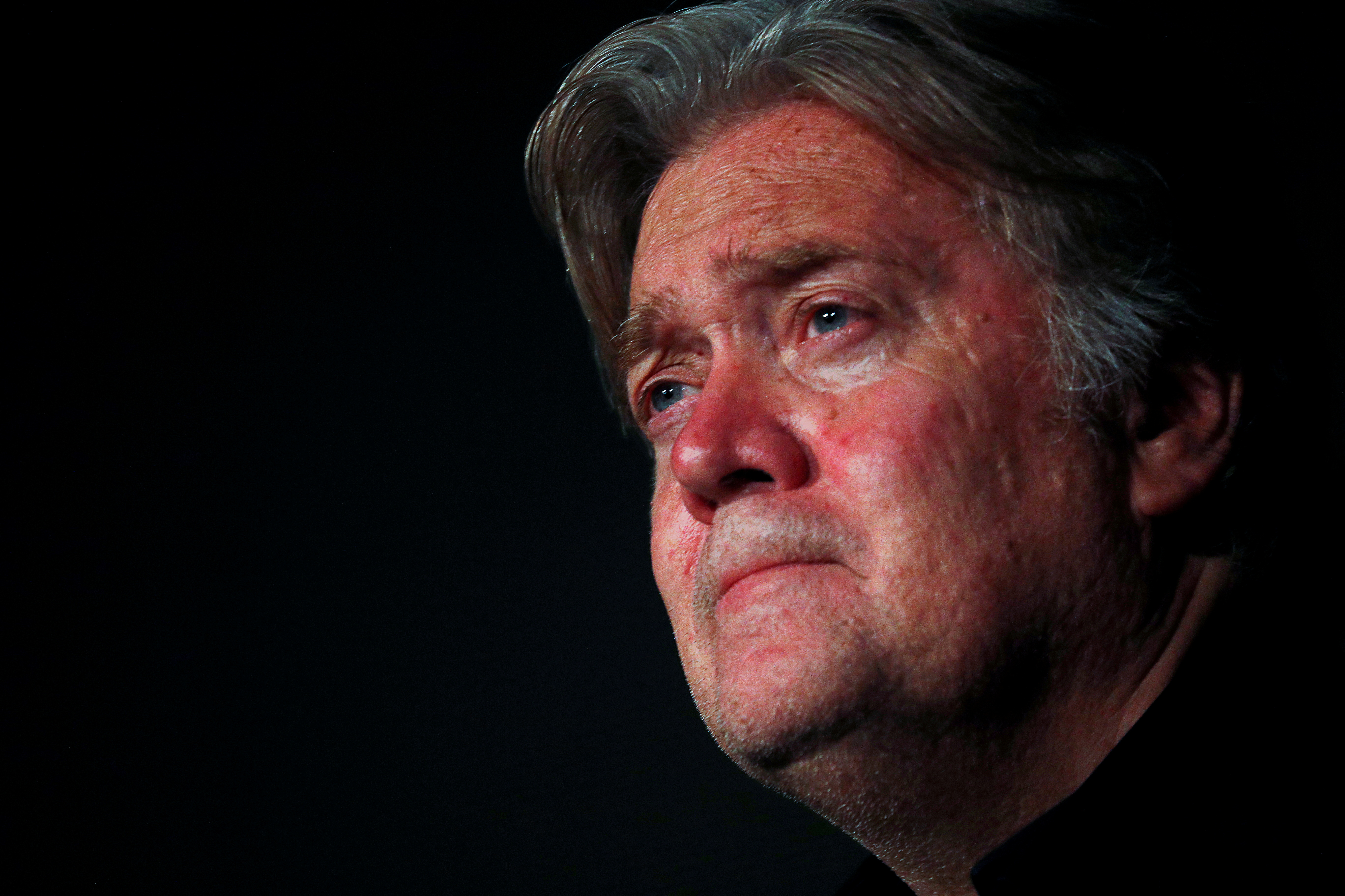 Former White House Chief Strategist Steve Bannon holds a news conference in Rome, Italy September 22, 2018. REUTERS/Alessandro Bianchi/File Photo