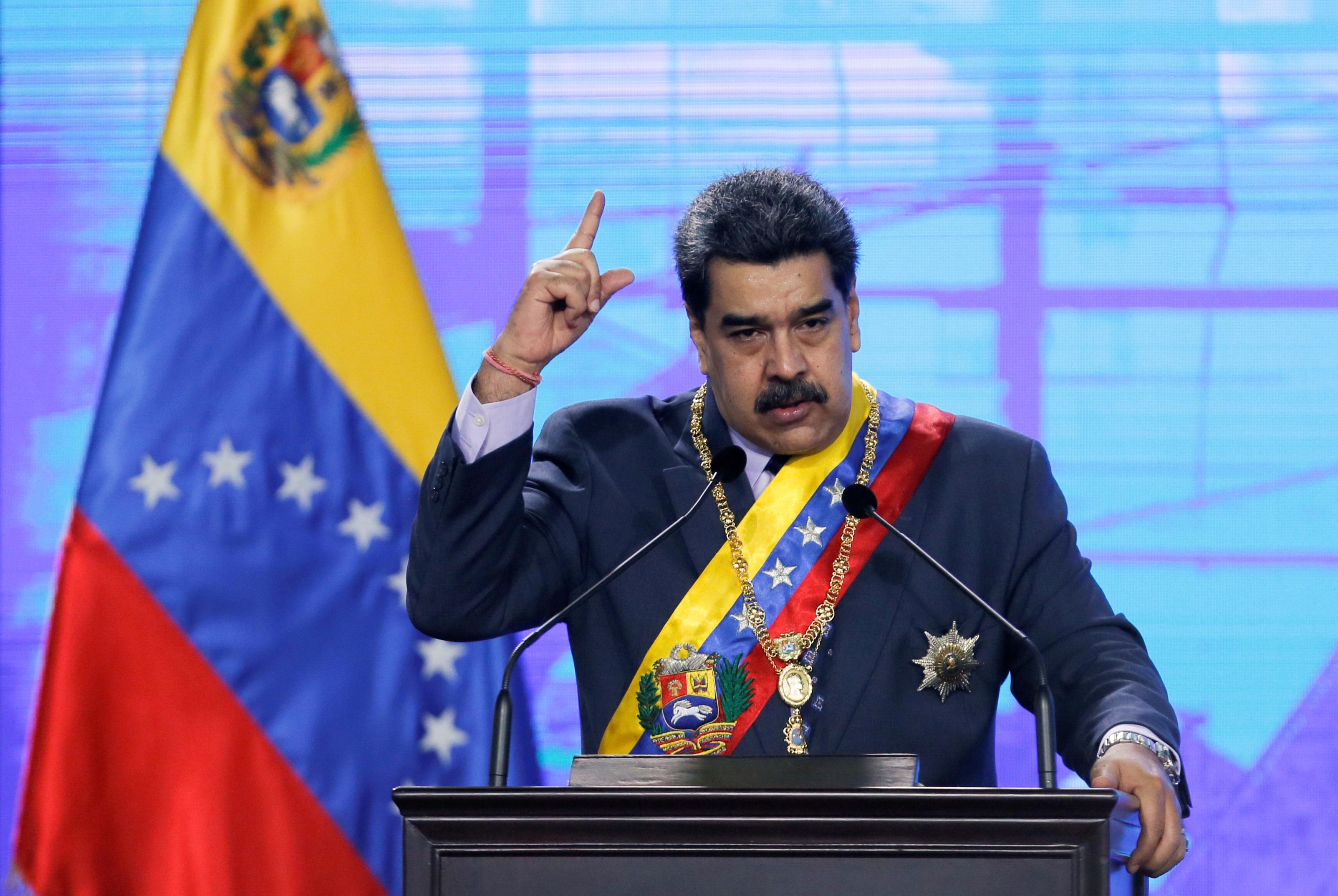 Venezuela's President Nicolas Maduro speaks during a ceremony marking the opening of the new court term in Caracas, Venezuela January 22, 2021. REUTERS/Manaure Quintero/File Photo