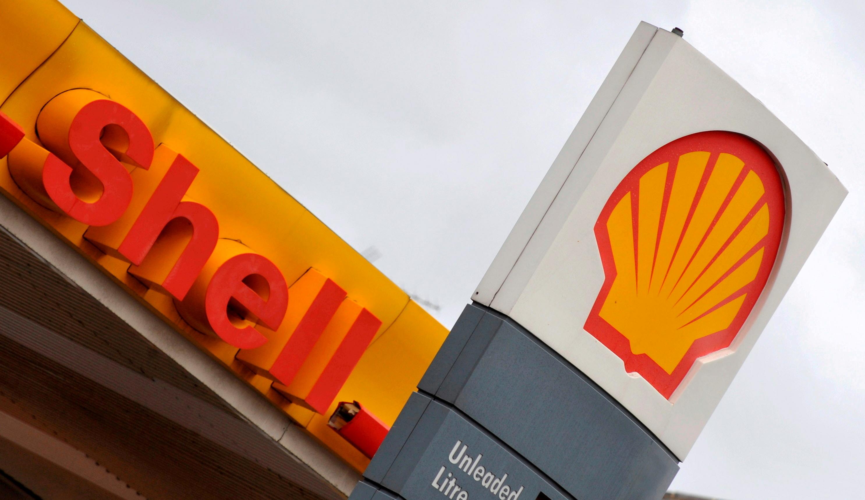Logo da Royal Dutch Shell em um posto de gasolina Shell em Londres 31/01/2008 REUTERS/Toby Melville/foto de arquivo/File Photo