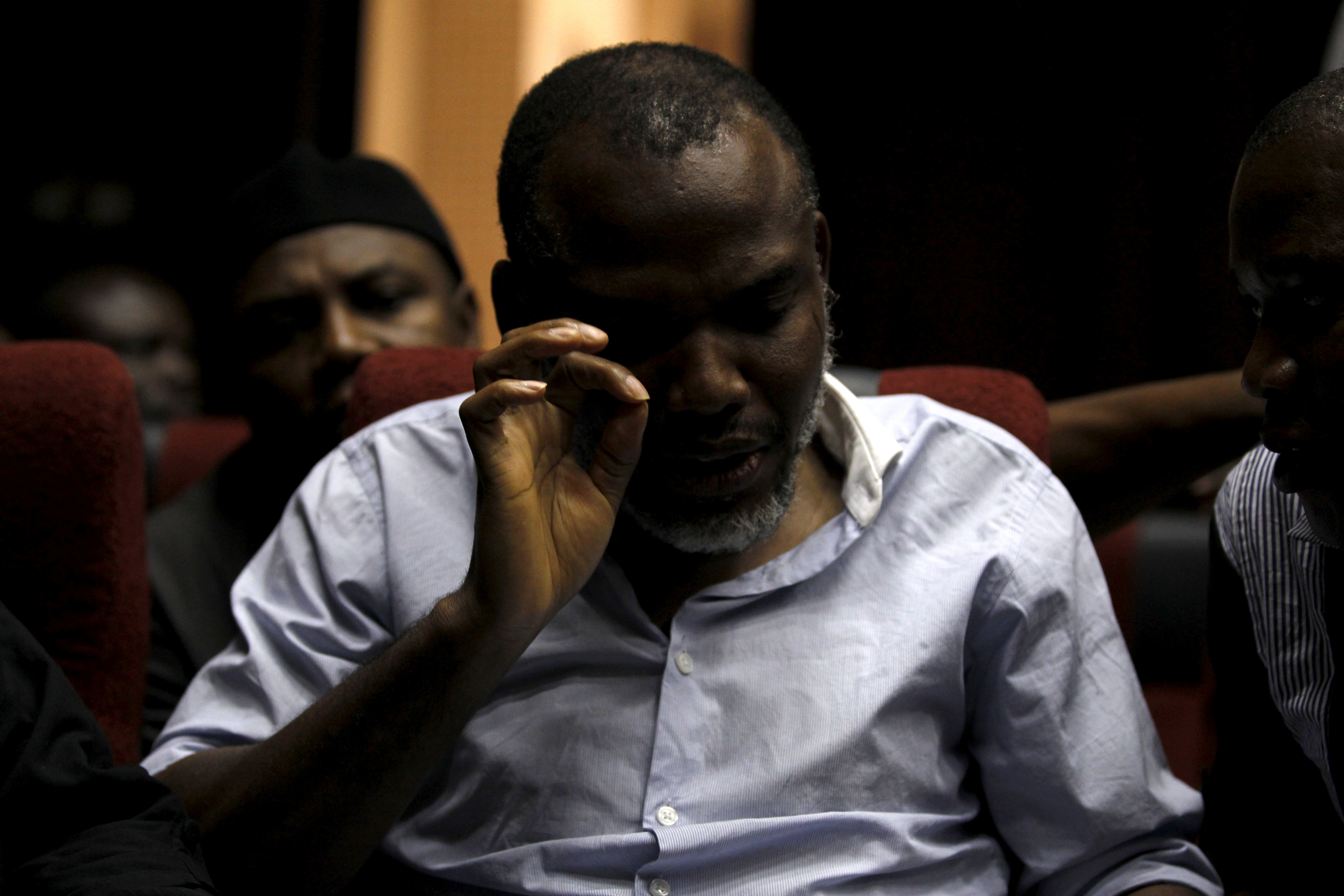 Indigenous People of Biafra (IPOB) leader Nnamdi Kanu is seen at the Federal high court Abuja, Nigeria January 20, 2016.  REUTERS/Afolabi Sotunde/File Photo