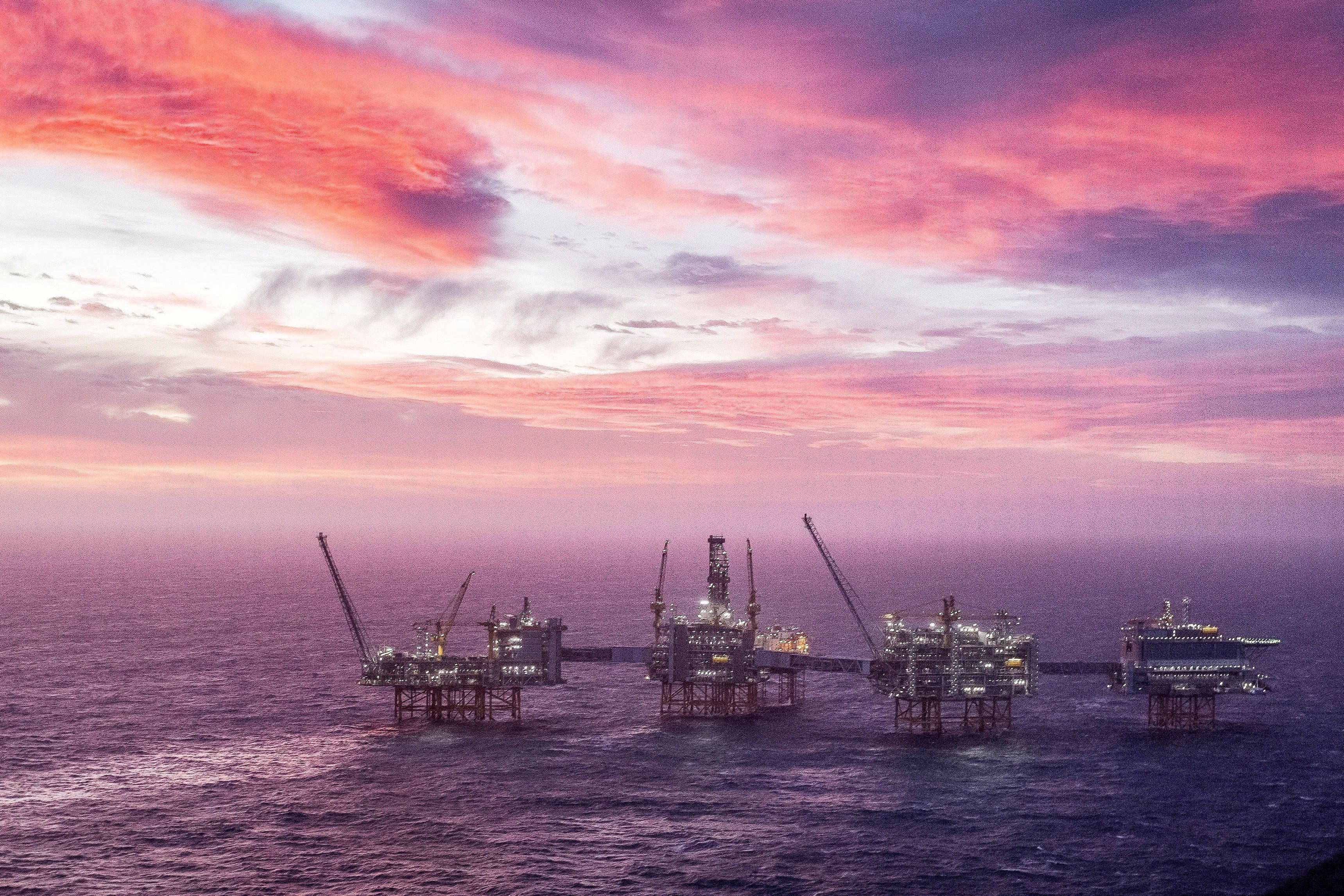 A view of the Johan Sverdrup oilfield in the North Sea, January 7, 2020. Carina Johansen/NTB Scanpix/via REUTERS/File Photo