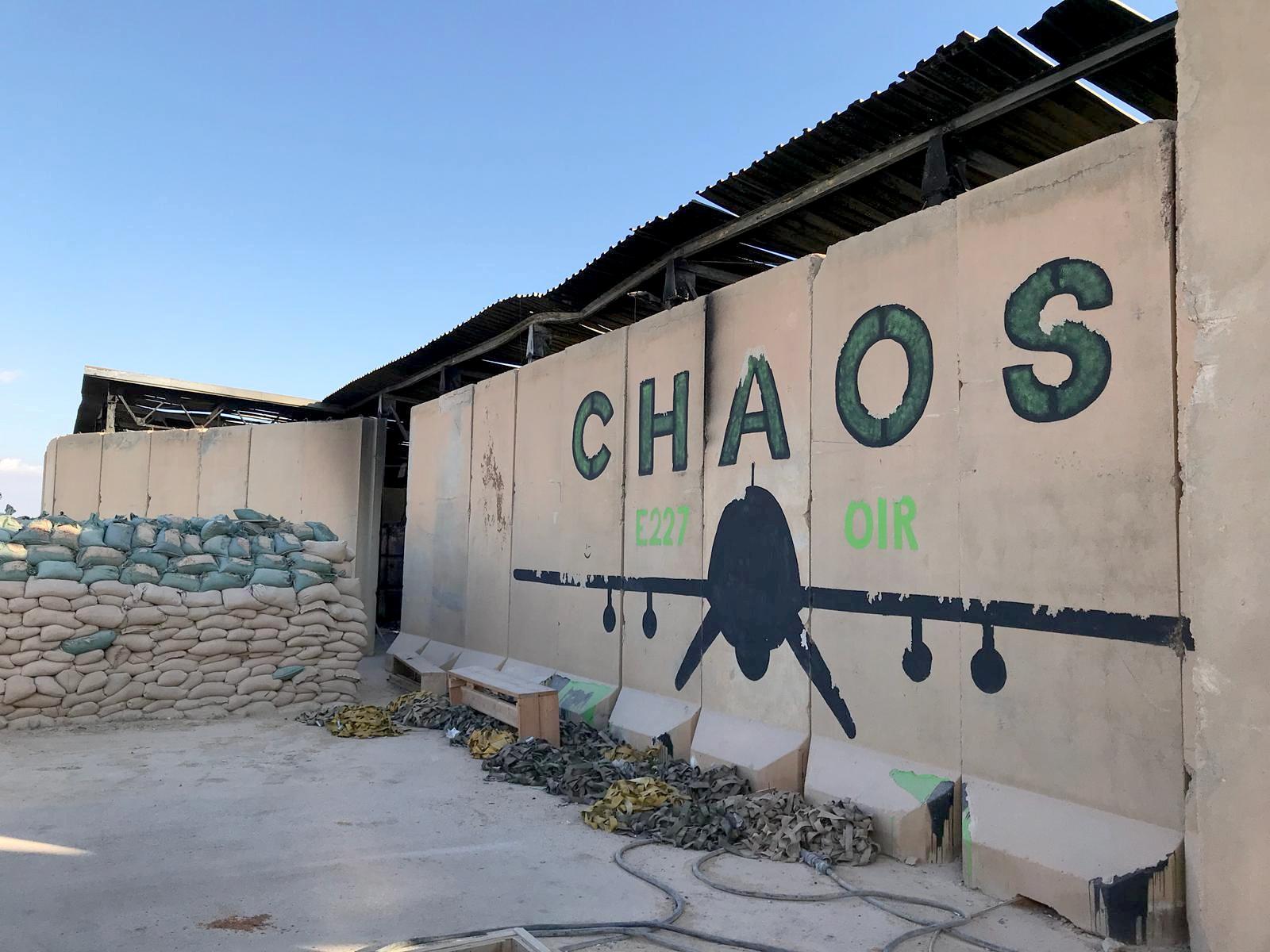 Blast walls of a sleeping quarters for U.S. soldiers are seen at Ain al-Asad air base in Anbar province, Iraq January 13, 2020. REUTERS/John Davison