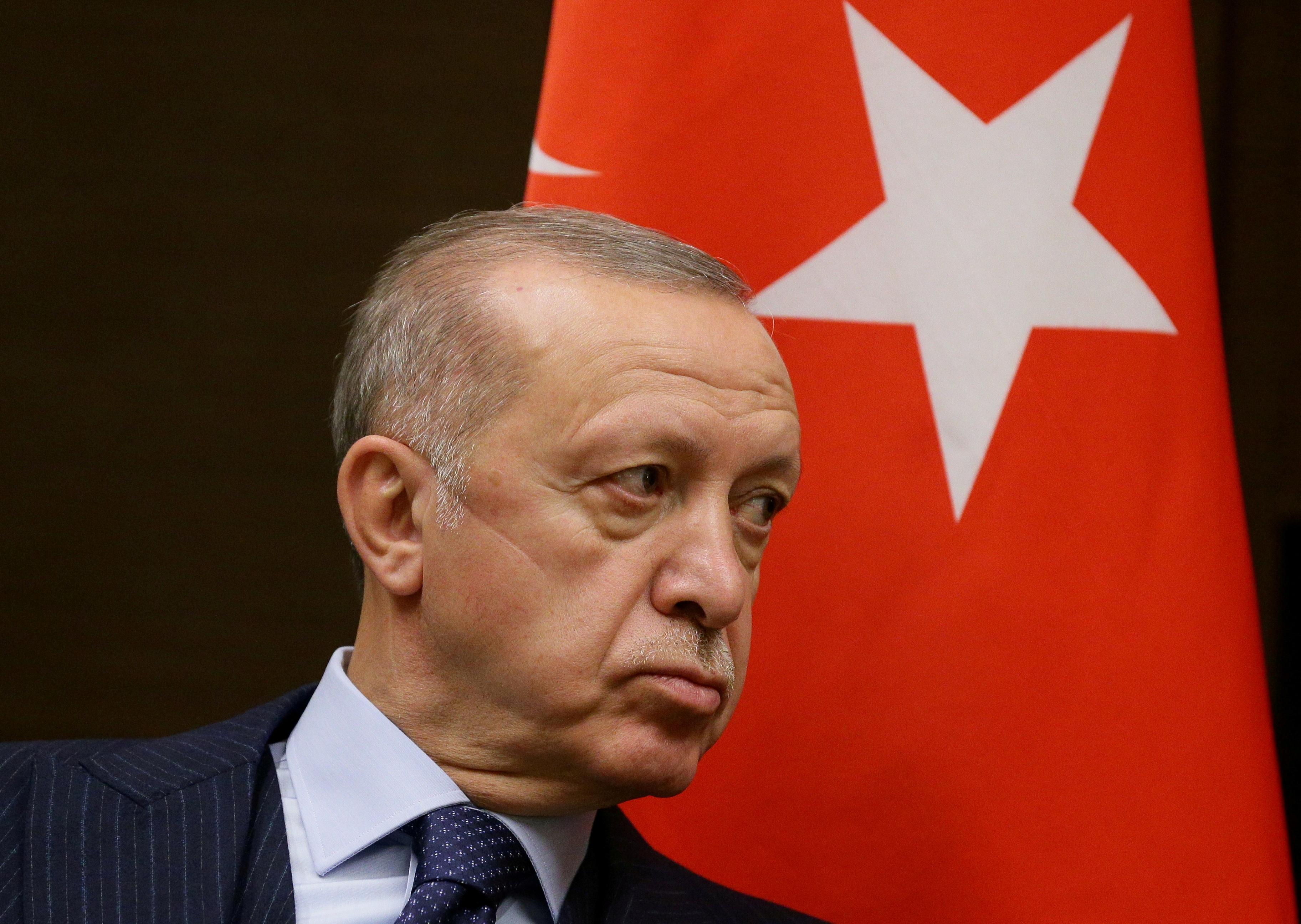 Turkish President Tayyip Erdogan in Sochi, Russia September 29, 2021. Sputnik/Vladimir Smirnov/Pool via REUTERS