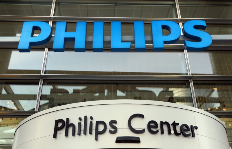 Dutch technology company Philips' logo is seen at company headquarters in Amsterdam, Netherlands, January 29, 2019. REUTERS/Eva Plevier